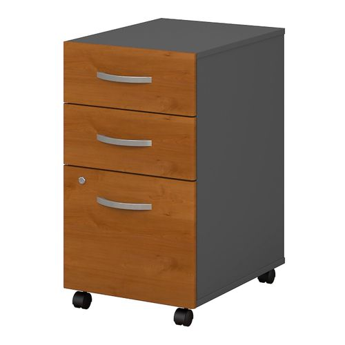 BUSH BUSINESS FURNITURE SERIES C 3 DRAWER MOBILE FILE CABINET. FREE SHIPPING. - <font color=red><b>OUT OF STOCK</b></font>