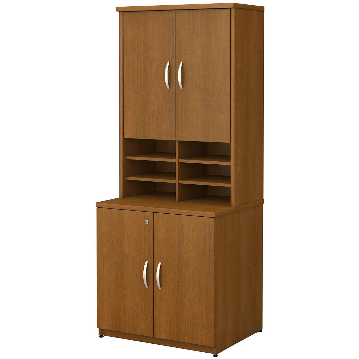 <font color=#c60><b>BUSH BUSINESS FURNITURE SERIES C 30W STORAGE CABINET WITH HUTCH. FREE SHIPPING</font></b>