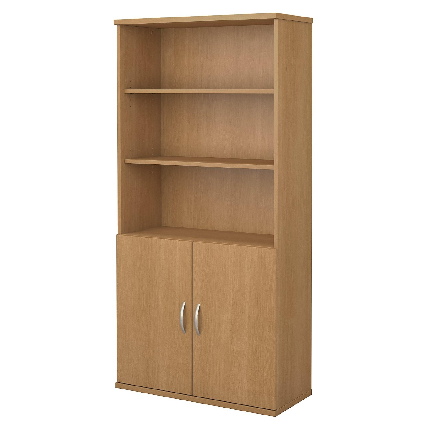 <font color=#c60><b>BUSH BUSINESS FURNITURE SERIES C 36W 5 SHELF BOOKCASE WITH DOORS. FREE SHIPPING</font></b>