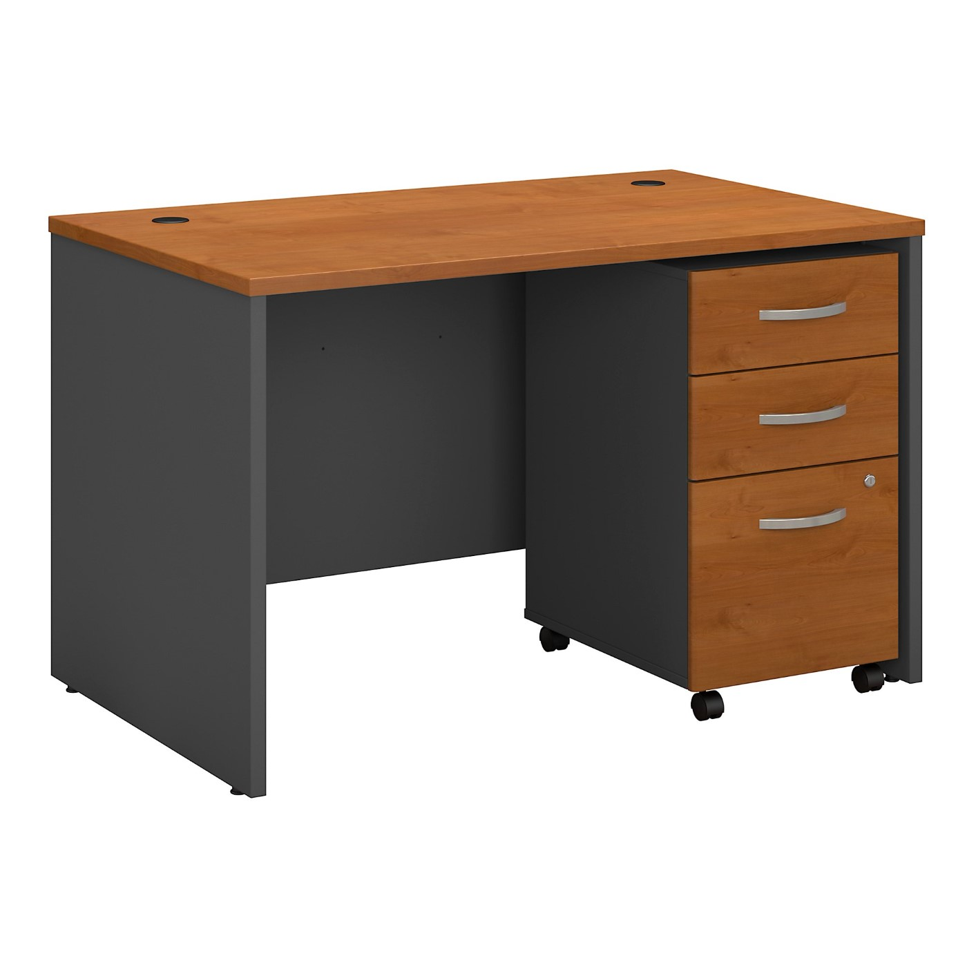 BUSH BUSINESS FURNITURE SERIES C 48W X 30D OFFICE DESK WITH MOBILE FILE CABINET. FREE SHIPPING