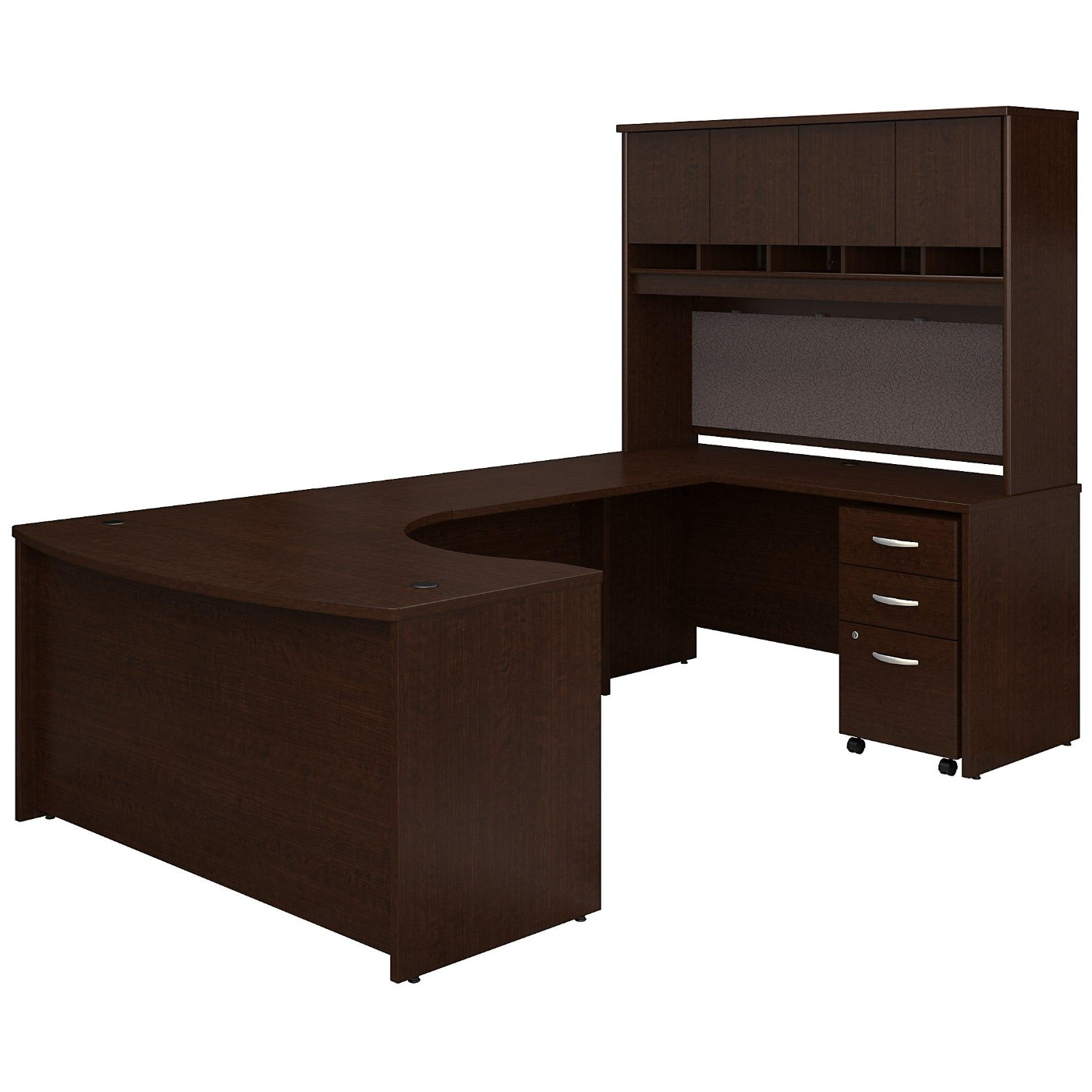 BUSH BUSINESS FURNITURE SERIES C 60W LEFT HANDED BOW FRONT U SHAPED DESK WITH HUTCH AND STORAGE. FREE SHIPPING</font></b></font>&#x1F384<font color=red><b>ERGONOMICHOME HOLIDAY SALE - ENDS DEC. 17, 2019</b></font>&#x1F384