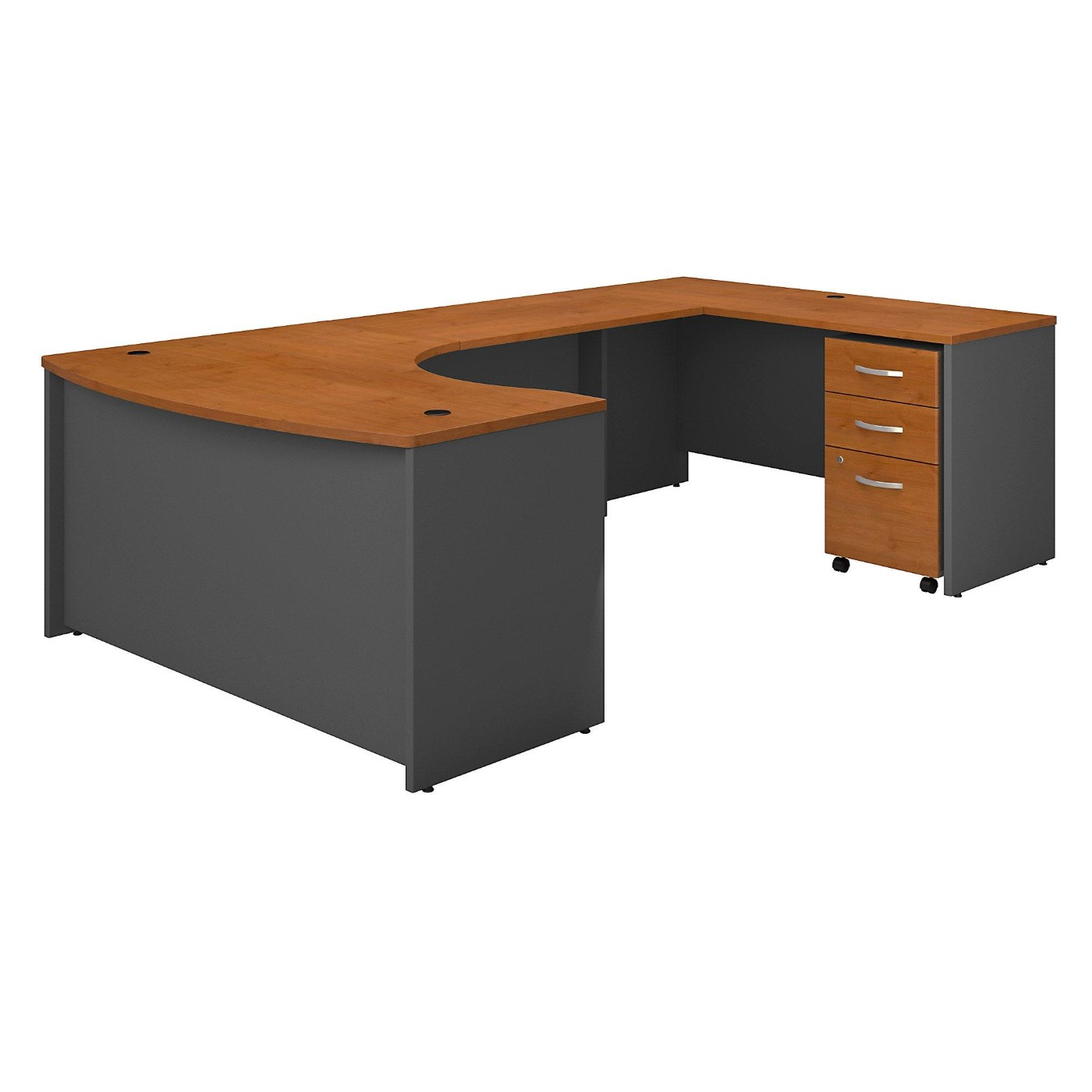 BUSH BUSINESS FURNITURE SERIES C 60W LEFT HANDED BOW FRONT U SHAPED DESK WITH MOBILE FILE CABINET. FREE SHIPPING</font></b></font>&#x1F384<font color=red><b>ERGONOMICHOME HOLIDAY SALE - ENDS DEC. 17, 2019</b></font>&#x1F384