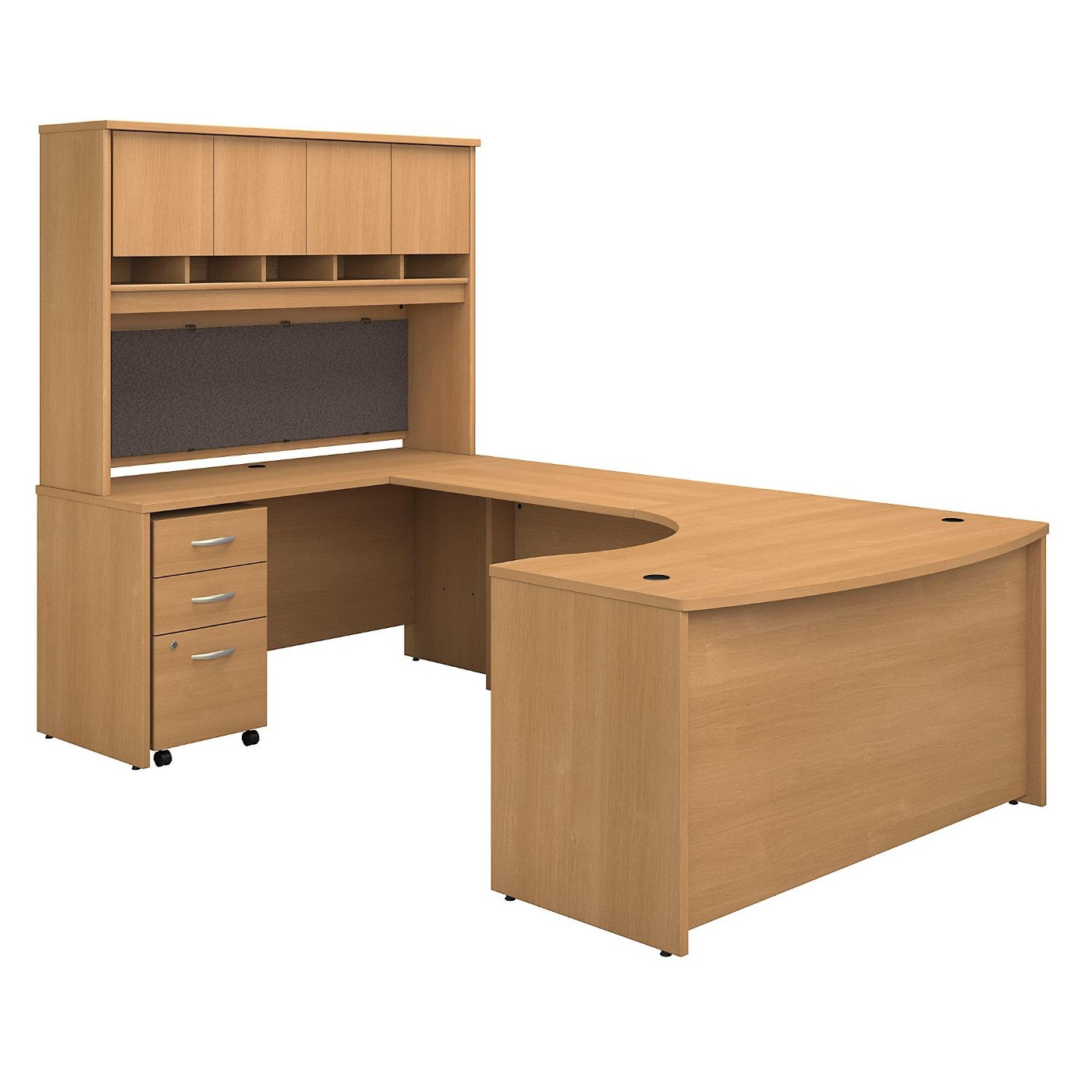 BUSH BUSINESS FURNITURE SERIES C 60W RIGHT HANDED BOW FRONT U SHAPED DESK WITH HUTCH AND STORAGE. FREE SHIPPING</font></b></font>&#x1F384<font color=red><b>ERGONOMICHOME HOLIDAY SALE - ENDS DEC. 17, 2019</b></font>&#x1F384