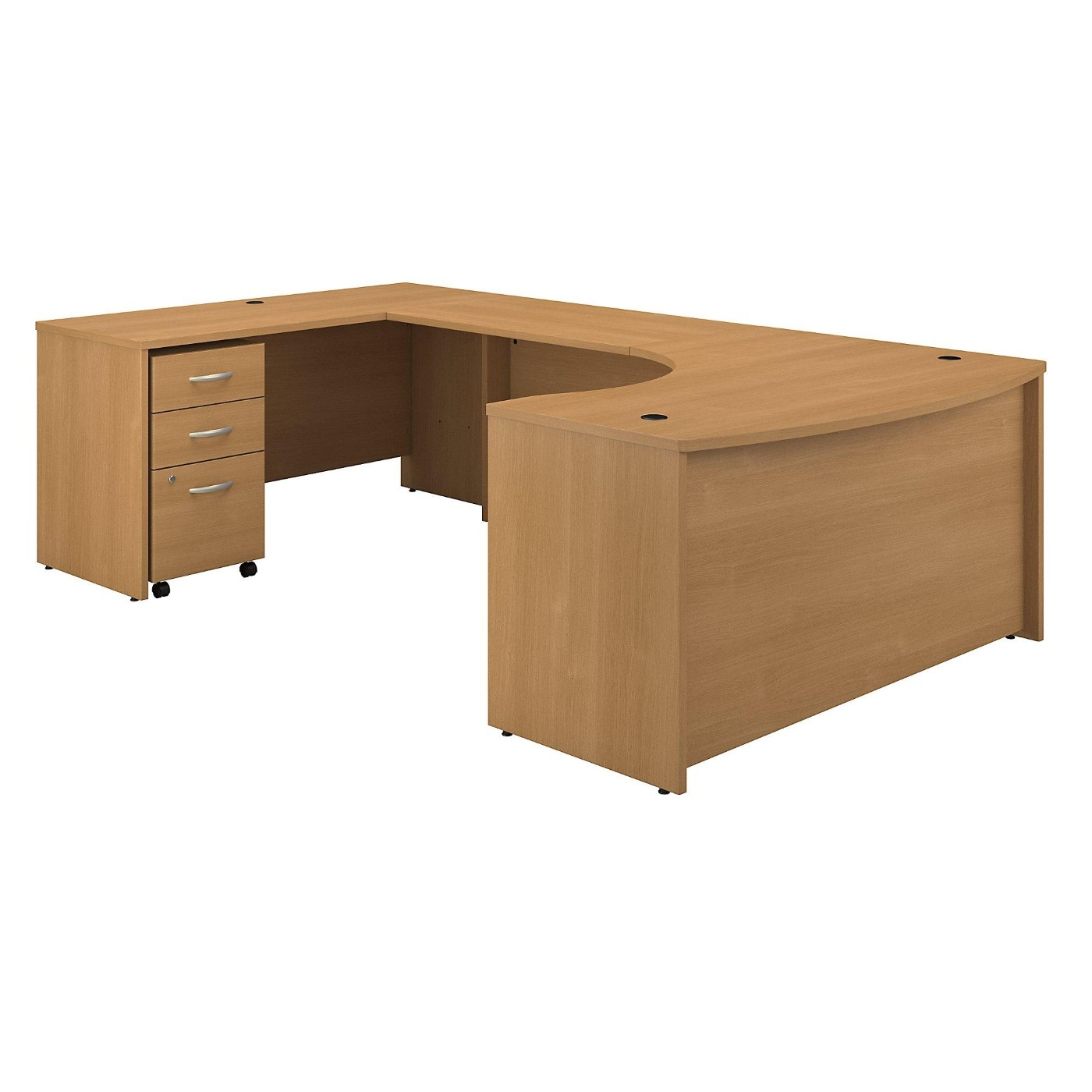 BUSH BUSINESS FURNITURE SERIES C 60W RIGHT HANDED BOW FRONT U SHAPED DESK WITH MOBILE FILE CABINET. FREE SHIPPING  VIDEO BELOW.  SALE DEDUCT 10% MORE ENTER '10percent' IN COUPON CODE BOX WHILE CHECKING OUT.