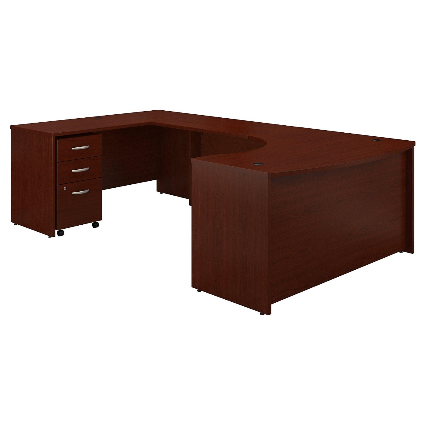 BUSH BUSINESS FURNITURE SERIES C 60W RIGHT HANDED BOW FRONT U SHAPED DESK WITH MOBILE FILE CABINET. FREE SHIPPING</font></b></font>&#x1F384<font color=red><b>ERGONOMICHOME HOLIDAY SALE - ENDS DEC. 17, 2019</b></font>&#x1F384