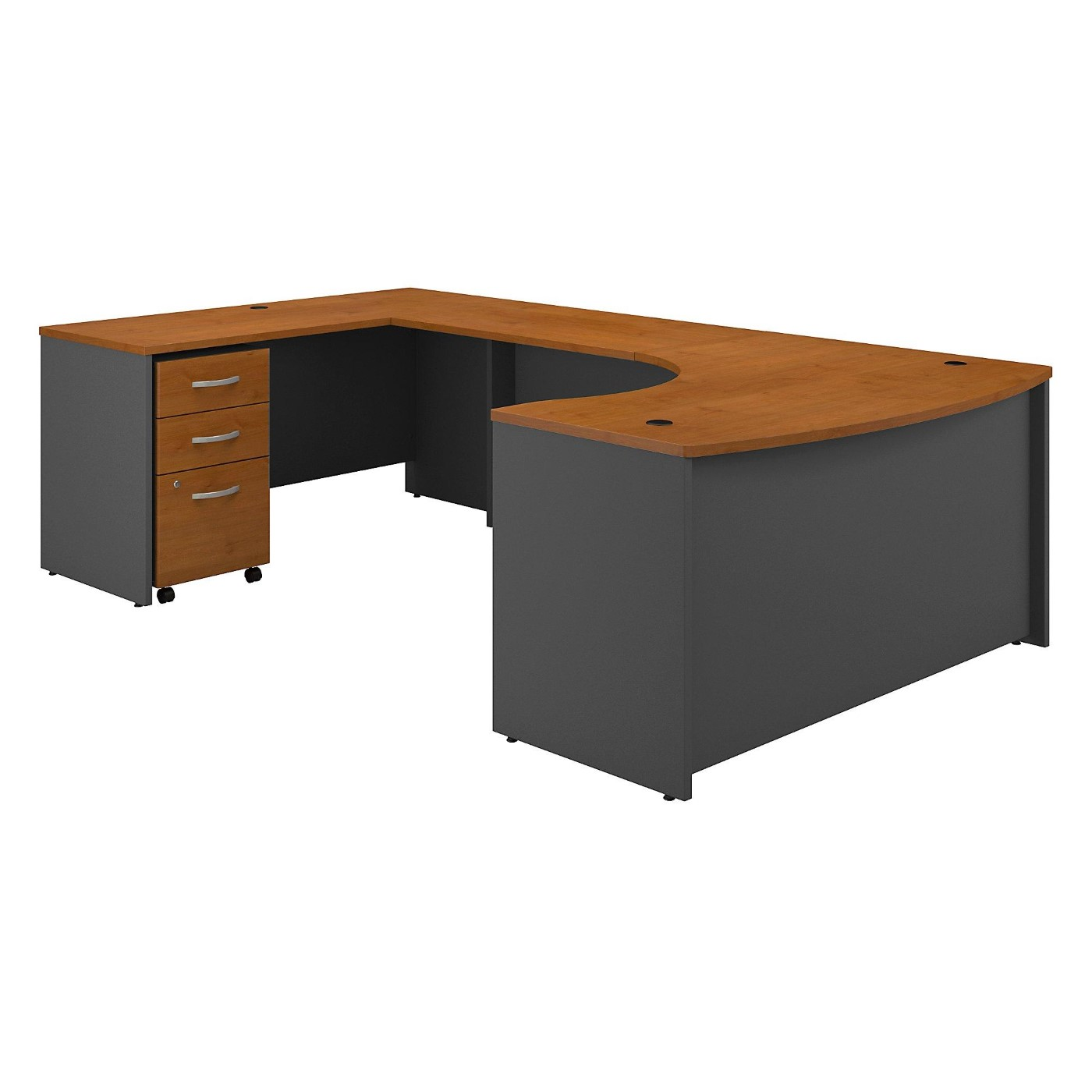 </b></font><b>BUSH BUSINESS FURNITURE SERIES C 60W RIGHT HANDED BOW FRONT U SHAPED DESK WITH MOBILE FILE CABINET. FREE SHIPPING</b></font>  VIDEO BELOW. </b></font></b>