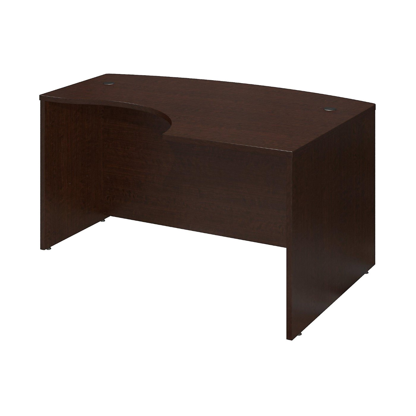 BUSH BUSINESS FURNITURE SERIES C 60W X 43D LEFT HANDED L BOW DESK. FREE SHIPPING.