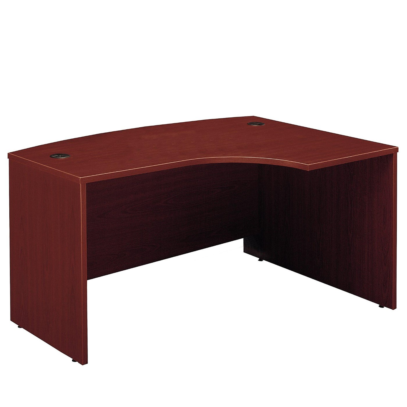BUSH BUSINESS FURNITURE SERIES C 60W X 43D LEFT HANDED L BOW DESK. FREE SHIPPING  VIDEO BELOW.