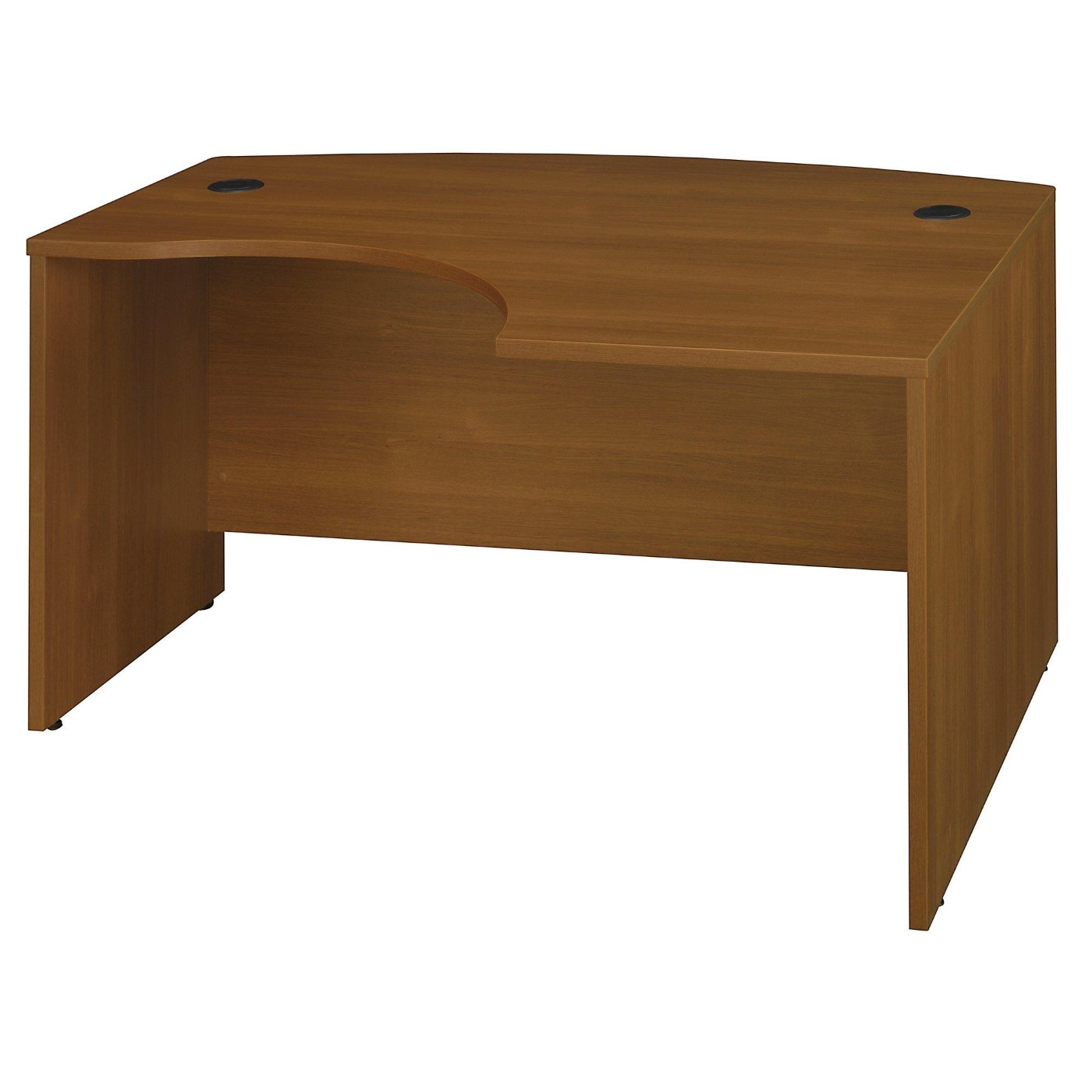 <font color=#c60><b>BUSH BUSINESS FURNITURE SERIES C 60W X 43D LEFT HANDED L BOW DESK. FREE SHIPPING</font></b>