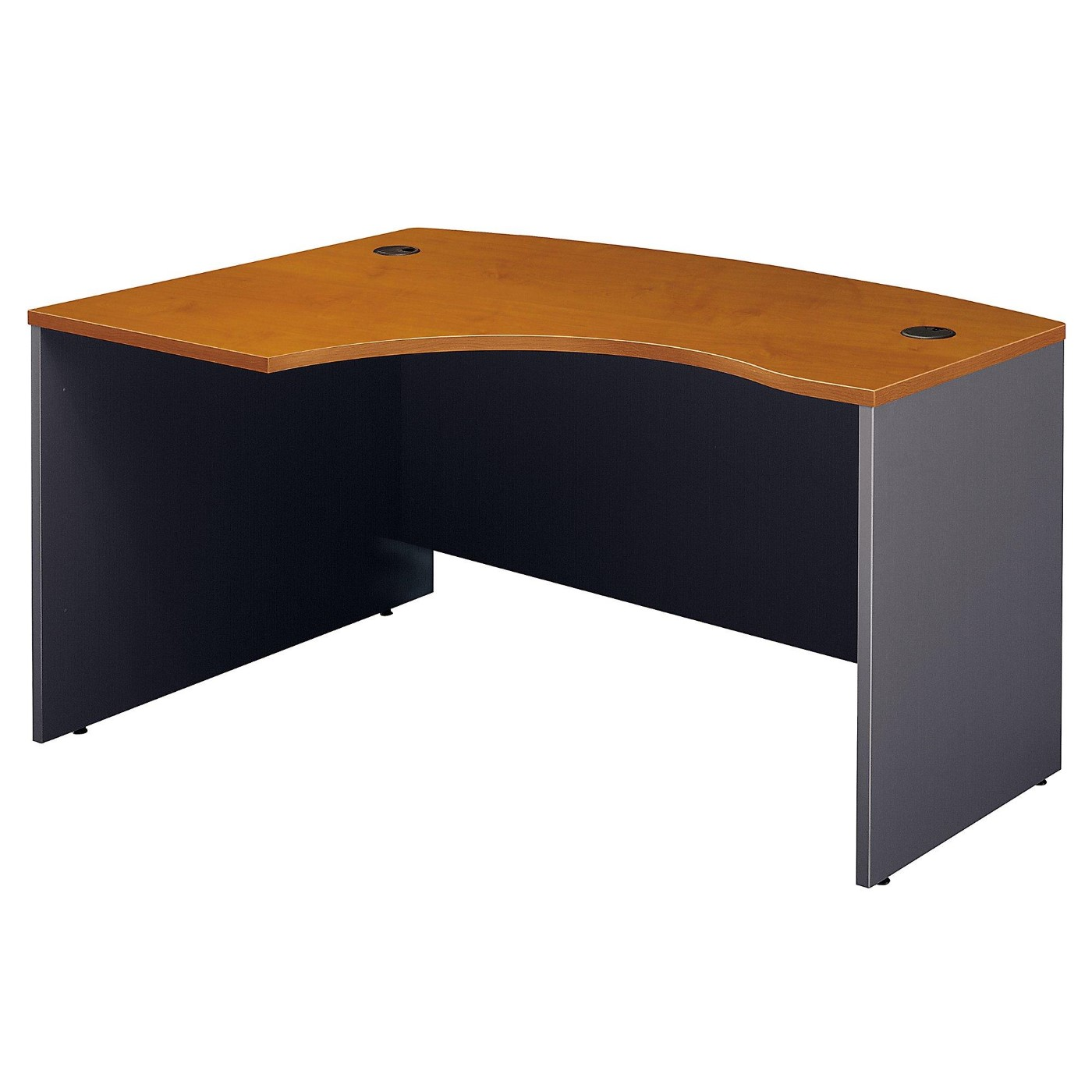 BUSH BUSINESS FURNITURE SERIES C 60W X 43D RIGHT HANDED L BOW DESK. FREE SHIPPING.