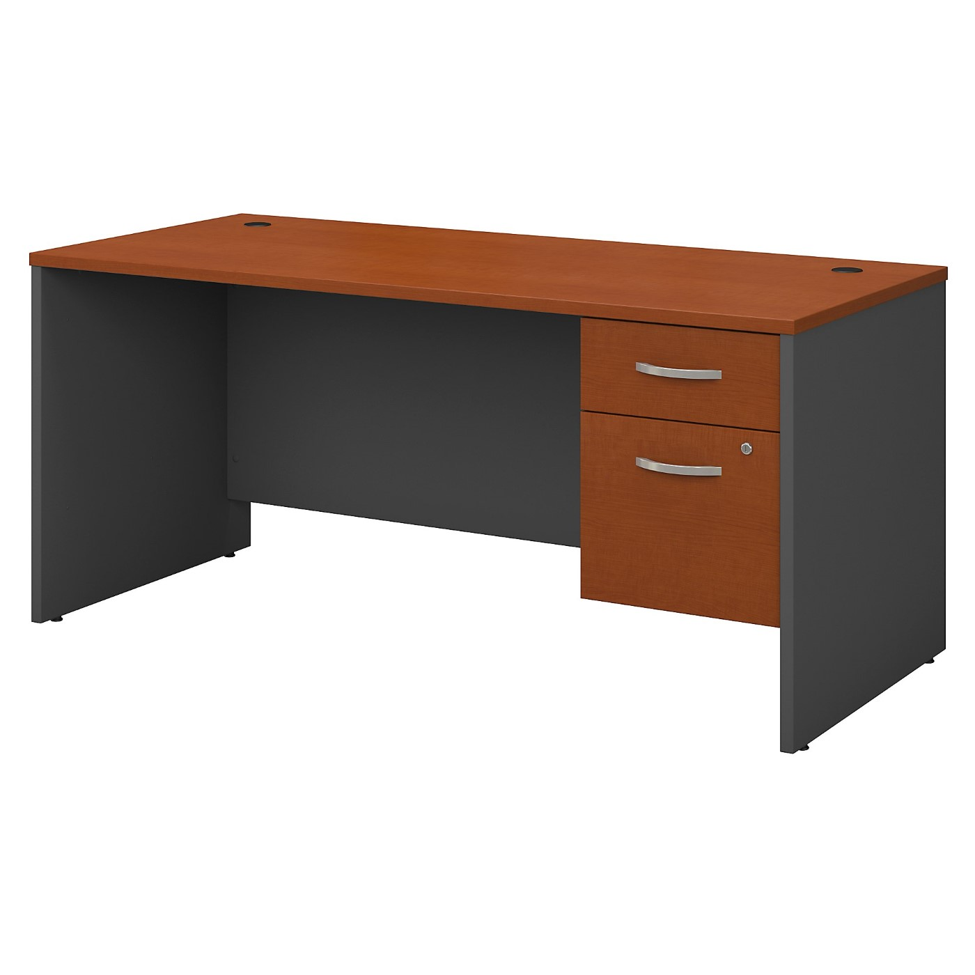 BUSH BUSINESS FURNITURE SERIES C 66W X 30D OFFICE DESK WITH 3/4 PEDESTAL. FREE SHIPPING SALE DEDUCT 10% MORE ENTER '10percent' IN COUPON CODE BOX WHILE CHECKING OUT.