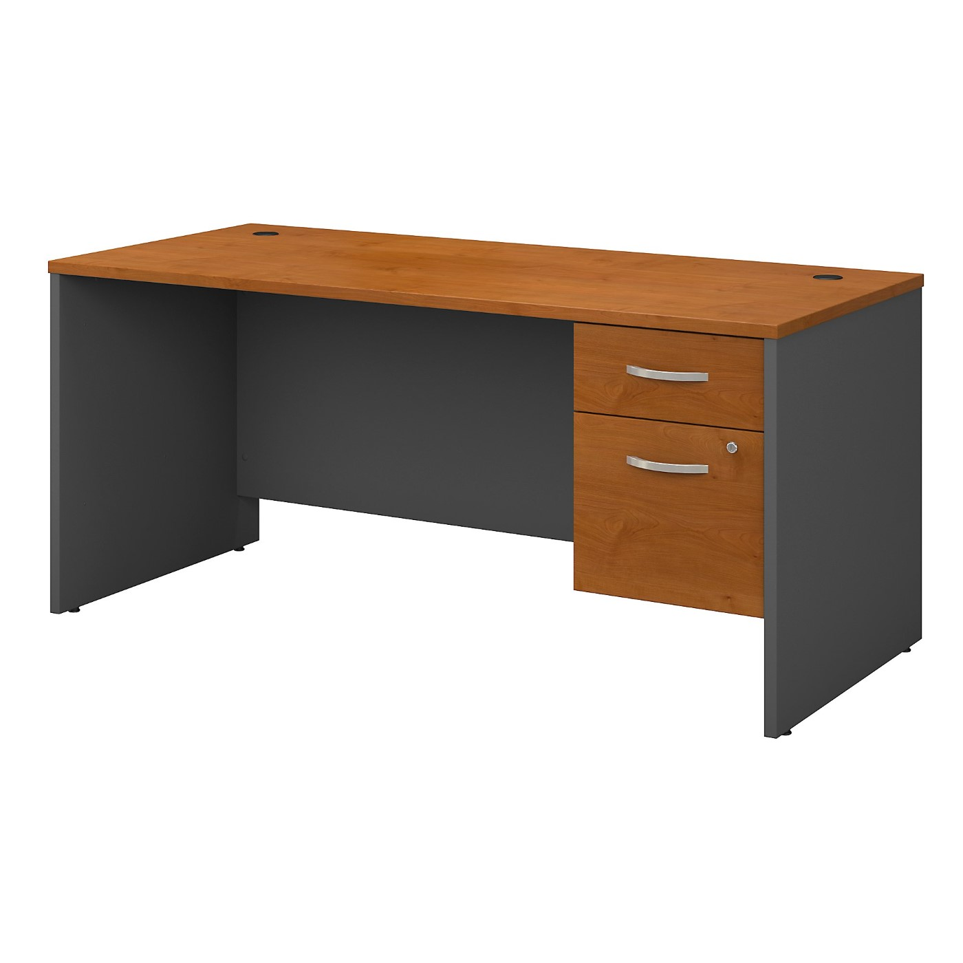 BUSH BUSINESS FURNITURE SERIES C 66W X 30D OFFICE DESK WITH 3/4 PEDESTAL. FREE SHIPPING