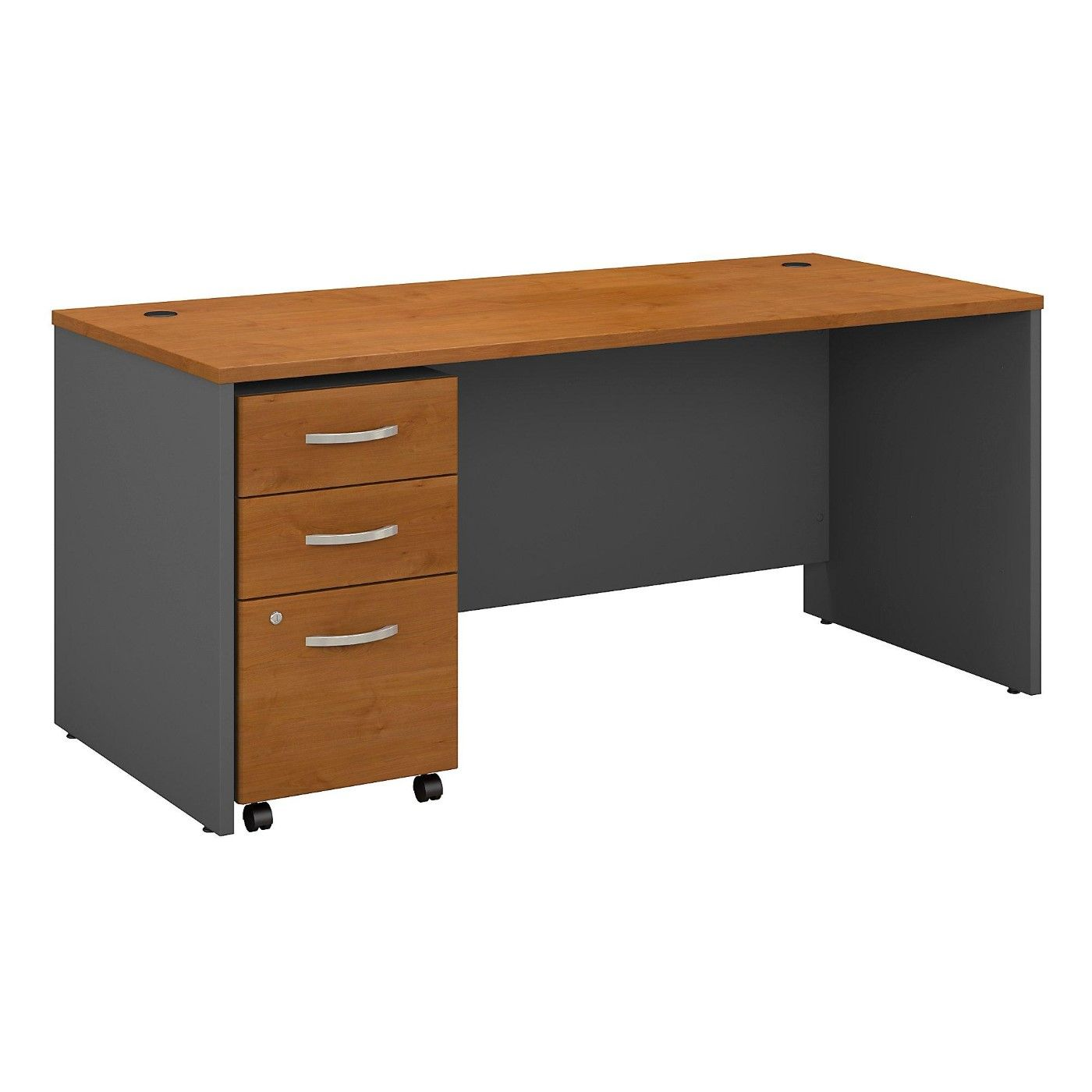 <font color=#c60><b>BUSH BUSINESS FURNITURE SERIES C 66W X 30D OFFICE DESK WITH MOBILE FILE CABINET. FREE SHIPPING</font></b>