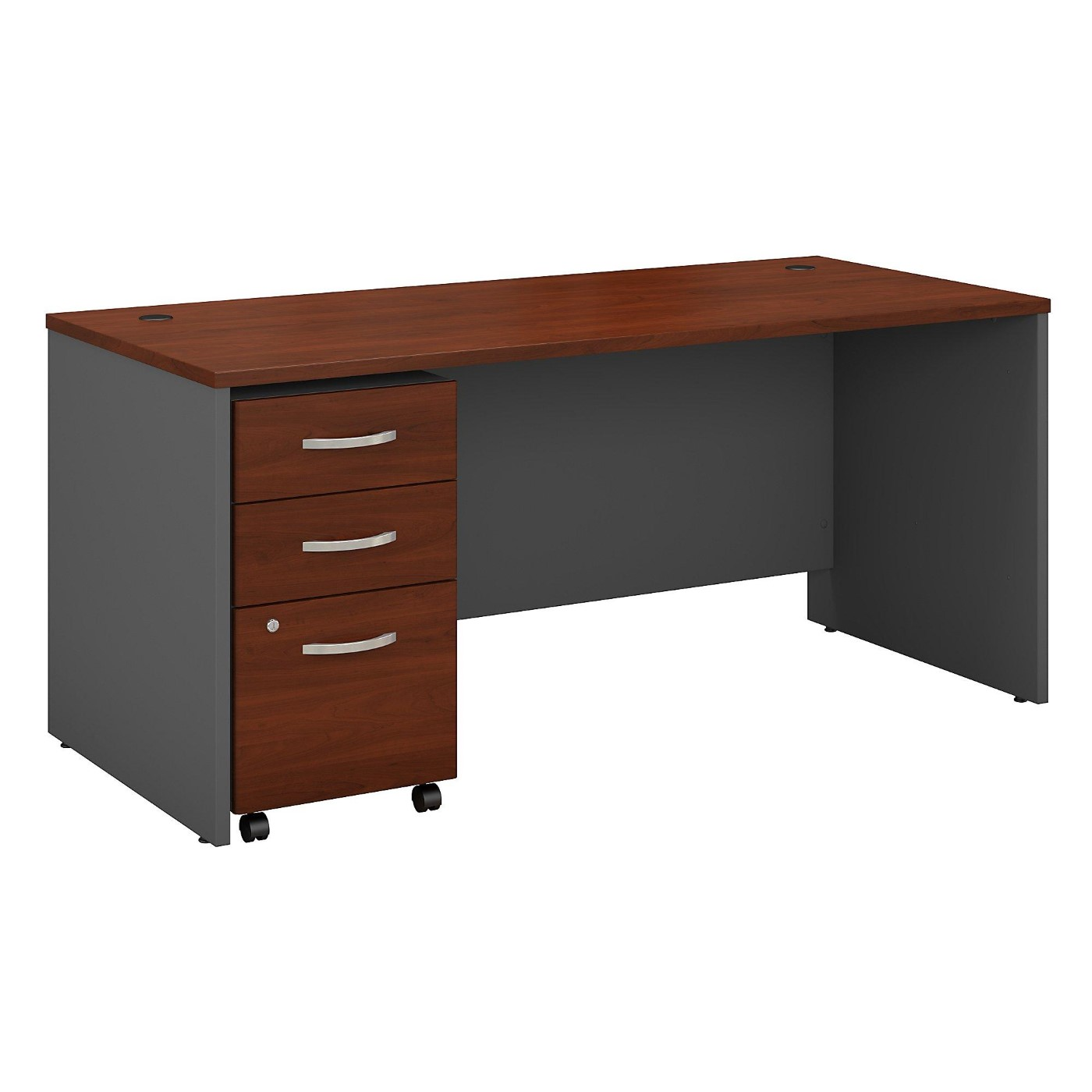 BUSH BUSINESS FURNITURE SERIES C 66W X 30D OFFICE DESK WITH MOBILE FILE CABINET. FREE SHIPPING</font></b></font>&#x1F384<font color=red><b>ERGONOMICHOME HOLIDAY SALE - ENDS DEC. 17, 2019</b></font>&#x1F384