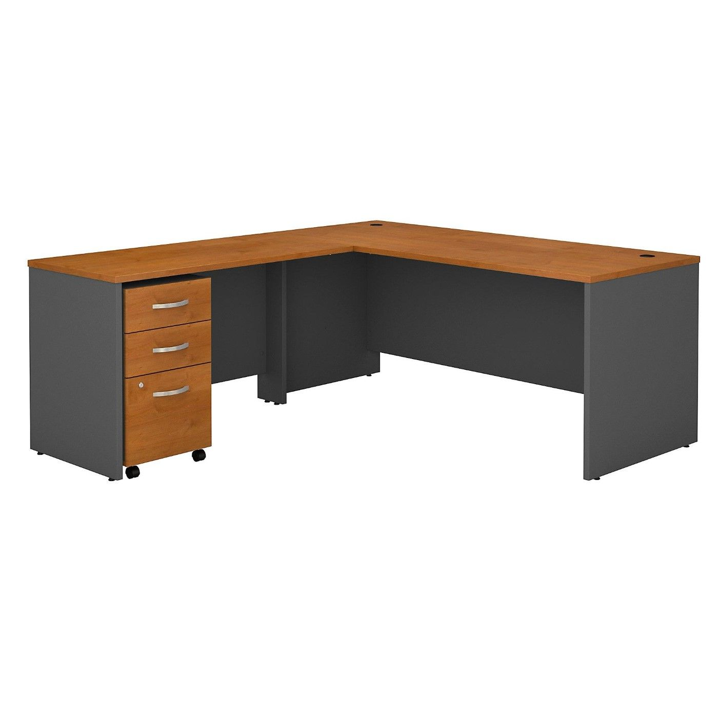 <font color=#c60><b>BUSH BUSINESS FURNITURE SERIES C 72W L SHAPED DESK WITH 48W RETURN AND MOBILE FILE CABINET. FREE SHIPPING</font></b>