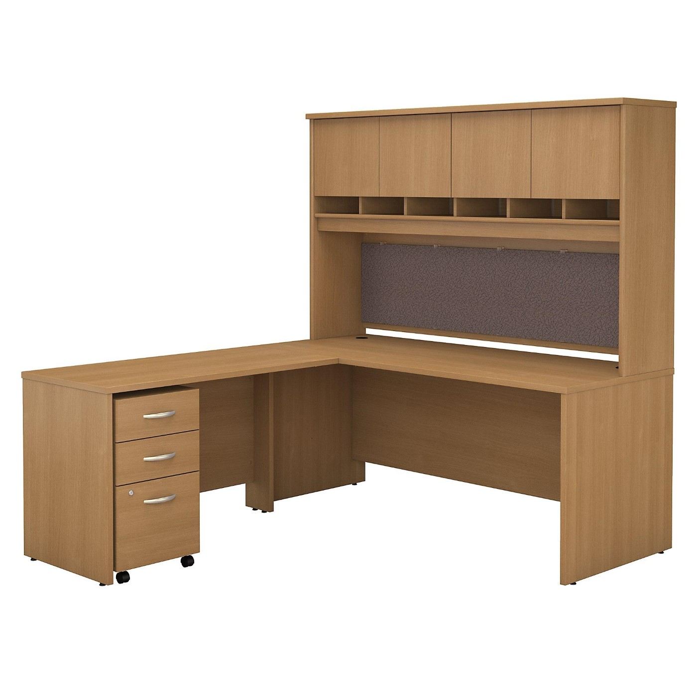 <font color=#c60><b>BUSH BUSINESS FURNITURE SERIES C 72W L SHAPED DESK WITH HUTCH AND MOBILE FILE CABINET. FREE SHIPPING</font></b></font></b>