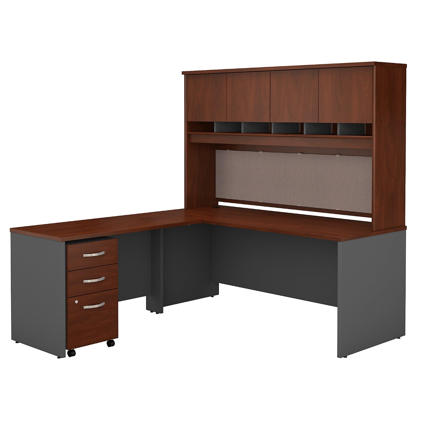 BUSH BUSINESS FURNITURE SERIES C 72W L SHAPED DESK WITH HUTCH AND MOBILE FILE CABINET. FREE SHIPPING</font></b></font>&#x1F384<font color=red><b>ERGONOMICHOME HOLIDAY SALE - ENDS DEC. 17, 2019</b></font>&#x1F384