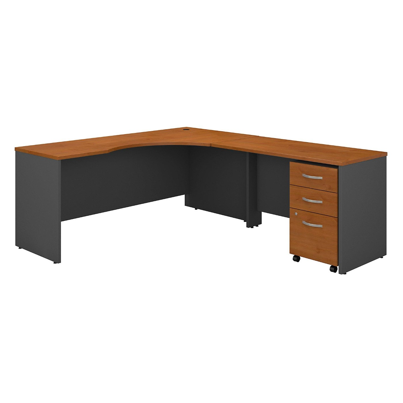 <font color=#c60><b>BUSH BUSINESS FURNITURE SERIES C 72W LEFT HANDED CORNER DESK WITH 48W RETURN AND MOBILE FILE CABINET. FREE SHIPPING</font></b>