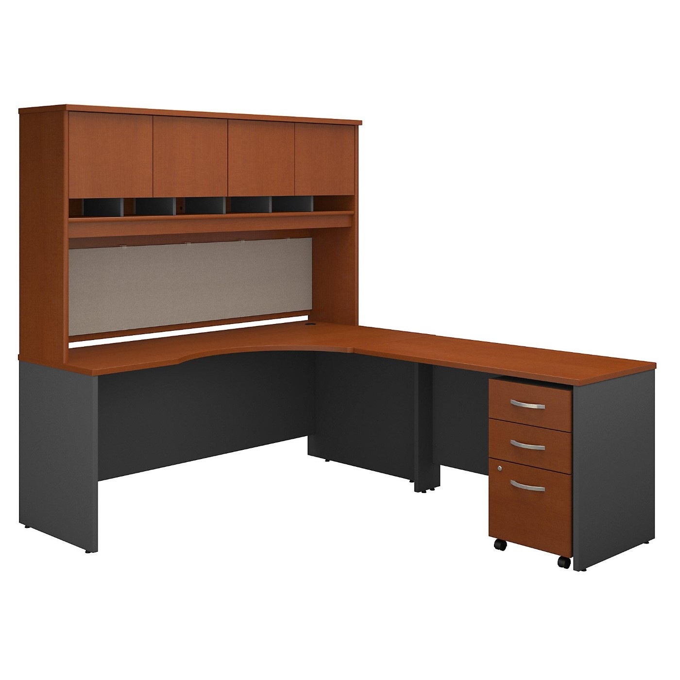 BUSH BUSINESS FURNITURE SERIES C 72W LEFT HANDED CORNER DESK WITH HUTCH AND MOBILE FILE CABINET. FREE SHIPPING</font></b></font>&#x1F384<font color=red><b>ERGONOMICHOME HOLIDAY SALE - ENDS DEC. 17, 2019</b></font>&#x1F384