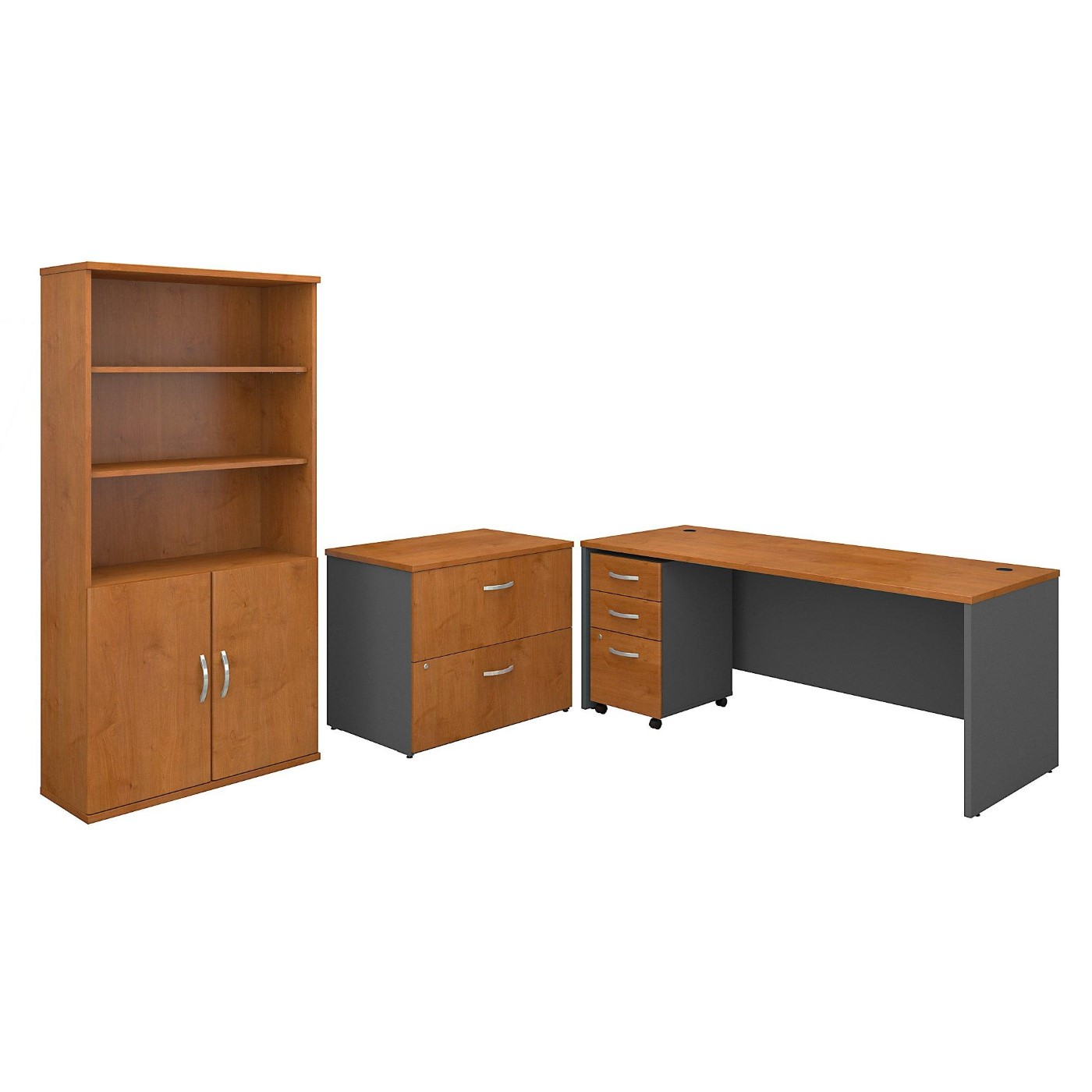 <font color=#c60><b>BUSH BUSINESS FURNITURE SERIES C 72W OFFICE DESK WITH BOOKCASE AND FILE CABINETS. FREE SHIPPING</font></b></font></b>