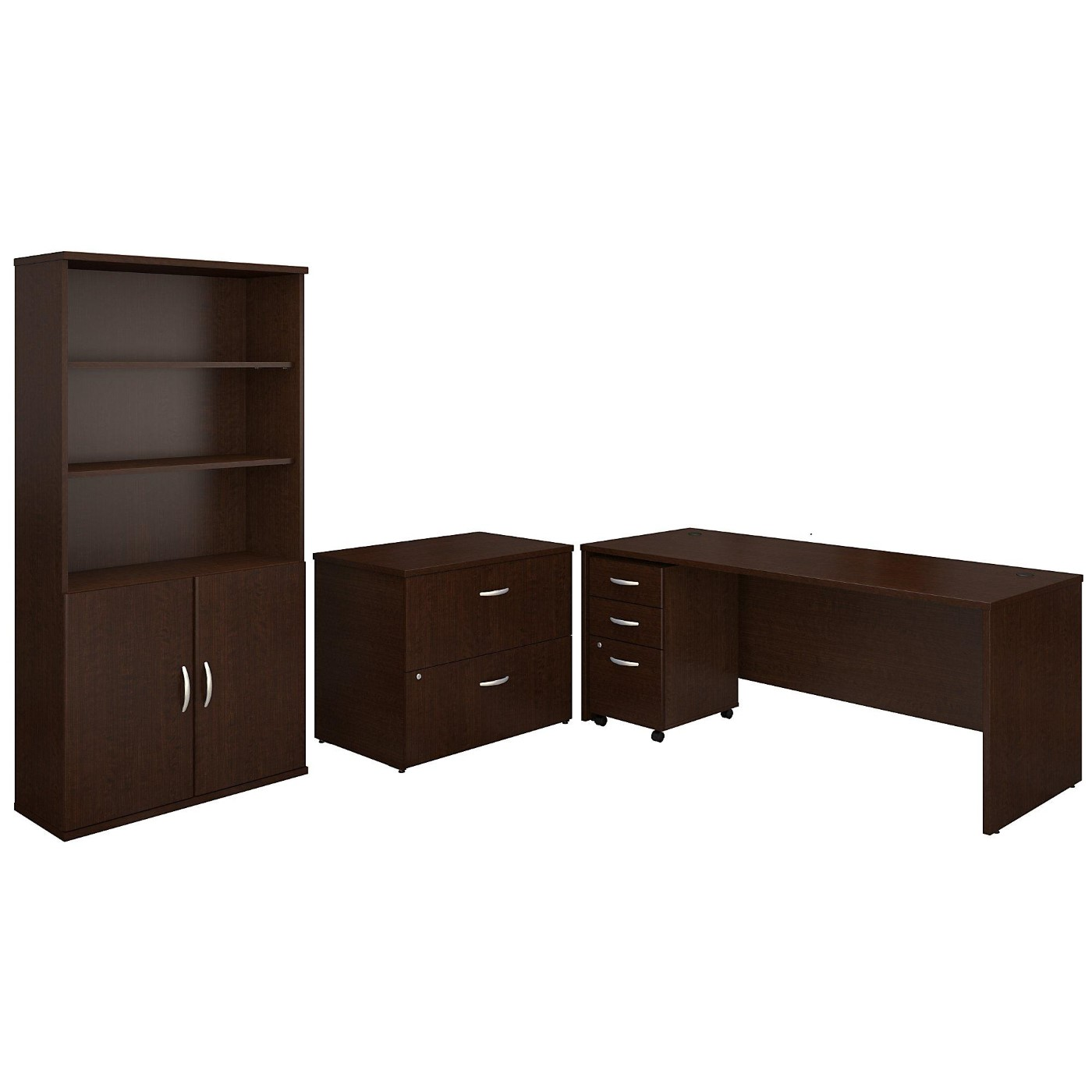 BUSH BUSINESS FURNITURE SERIES C 72W OFFICE DESK WITH BOOKCASE AND FILE CABINETS. FREE SHIPPING</font></b></font>&#x1F384<font color=red><b>ERGONOMICHOME HOLIDAY SALE - ENDS DEC. 17, 2019</b></font>&#x1F384
