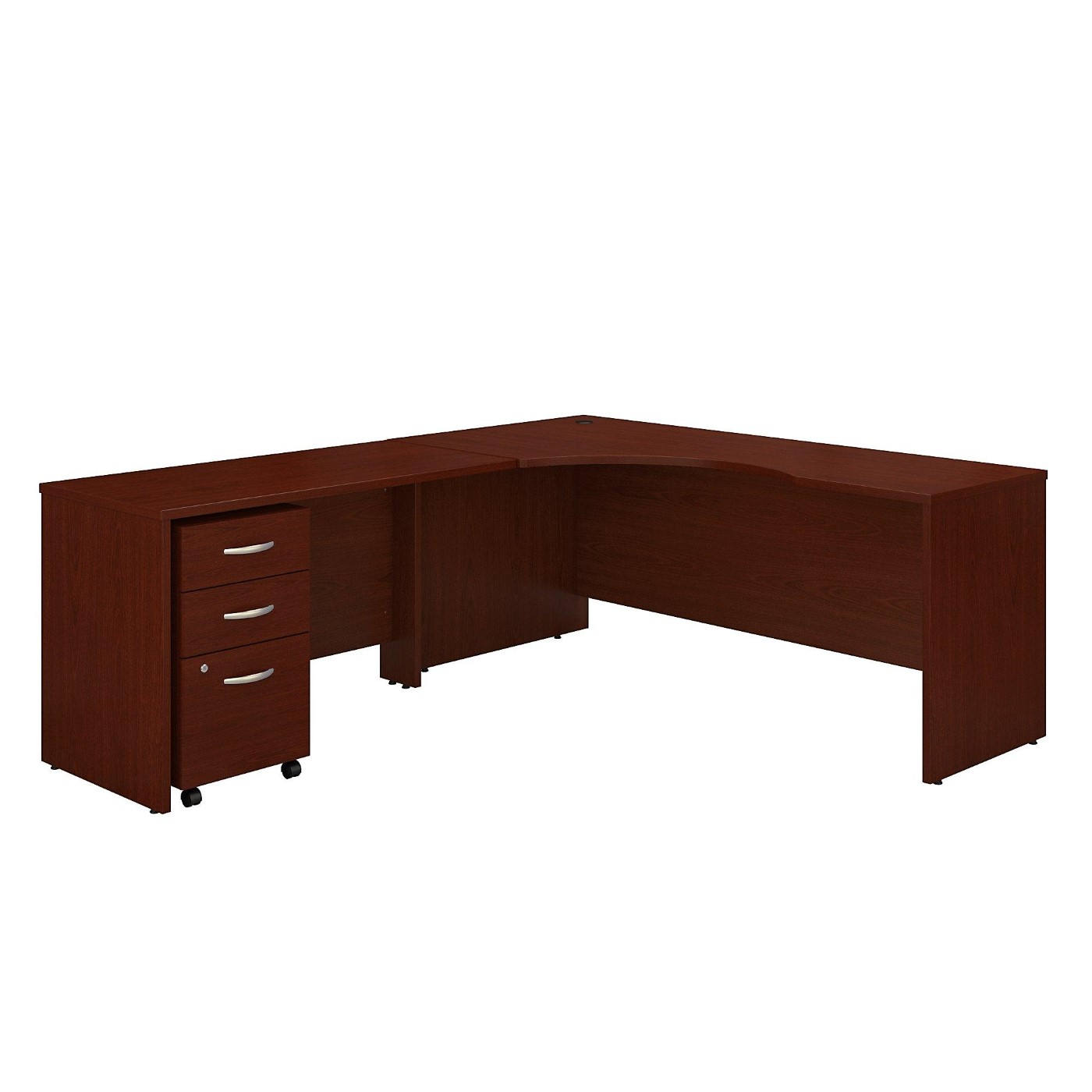 <font color=#c60><b>BUSH BUSINESS FURNITURE SERIES C 72W RIGHT HANDED CORNER DESK WITH 48W RETURN AND MOBILE FILE CABINET. FREE SHIPPING</font></b></font></b>
