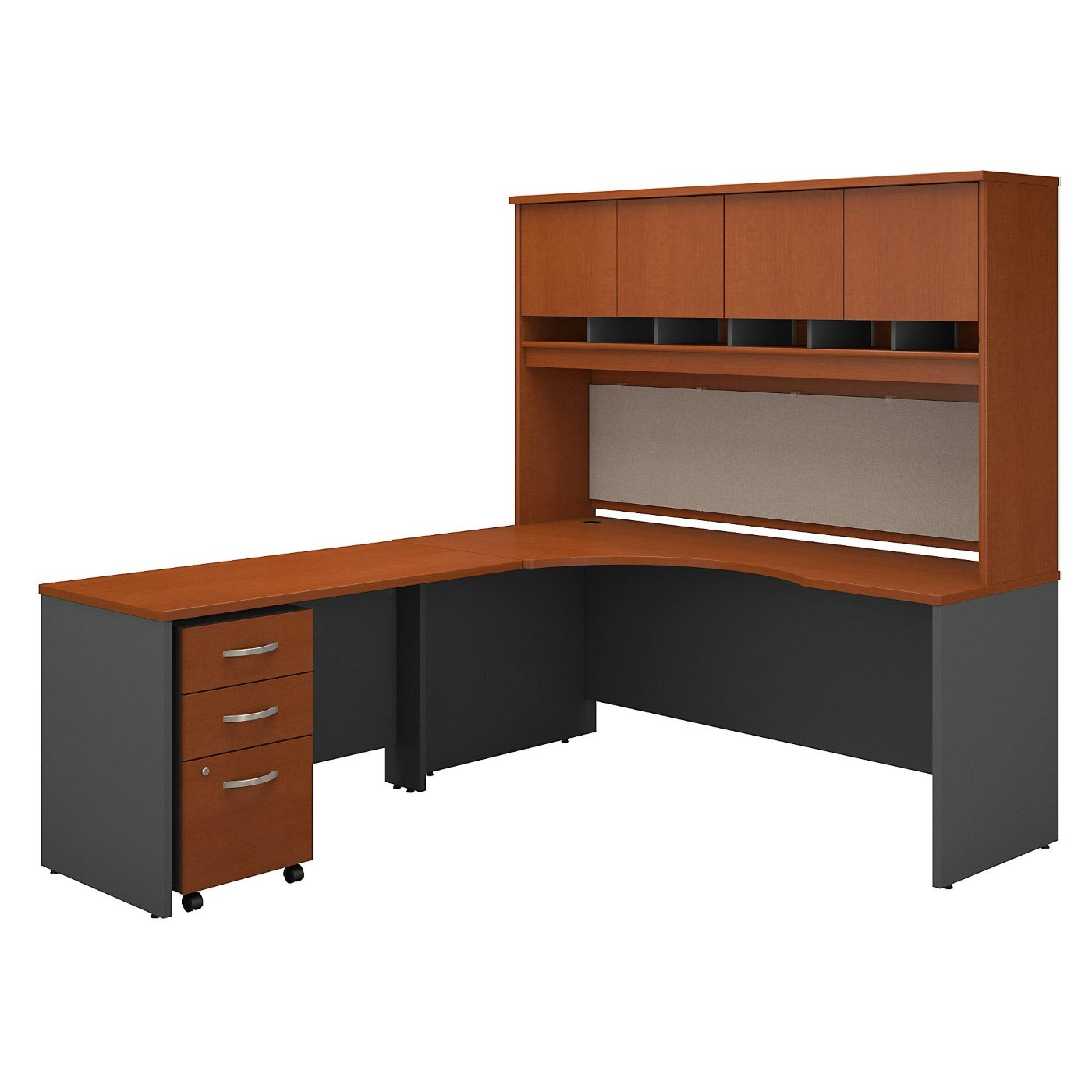 BUSH BUSINESS FURNITURE SERIES C 72W RIGHT HANDED CORNER DESK WITH HUTCH AND MOBILE FILE CABINET. FREE SHIPPING</font></b></font>&#x1F384<font color=red><b>ERGONOMICHOME HOLIDAY SALE - ENDS DEC. 17, 2019</b></font>&#x1F384
