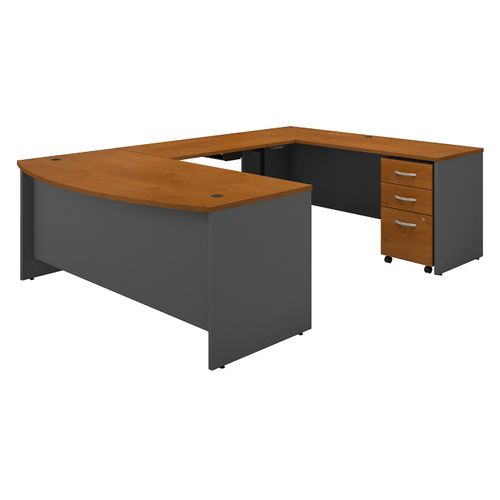 BUSH BUSINESS FURNITURE SERIES C 72W U SHAPED DESK WITH HEIGHT ADJUSTABLE BRIDGE AND STORAGE. FREE SHIPPING - <font color=red><b>OUT OF STOCK</b></font>