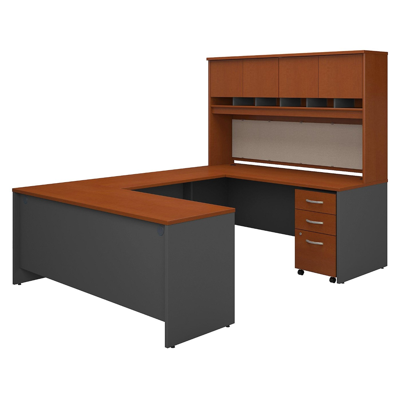 BUSH BUSINESS FURNITURE SERIES C 72W U SHAPED DESK WITH HUTCH AND STORAGE. FREE SHIPPING.  SALE DEDUCT 10% MORE ENTER '10percent' IN COUPON CODE BOX WHILE CHECKING OUT.