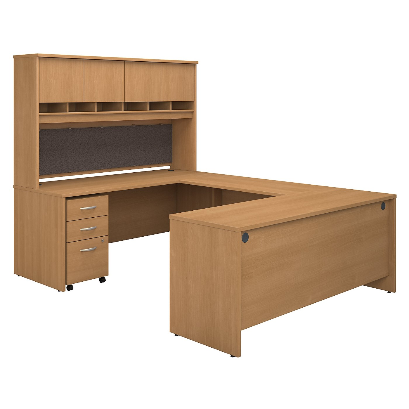 BUSH BUSINESS FURNITURE SERIES C 72W U SHAPED DESK WITH HUTCH AND STORAGE. FREE SHIPPING