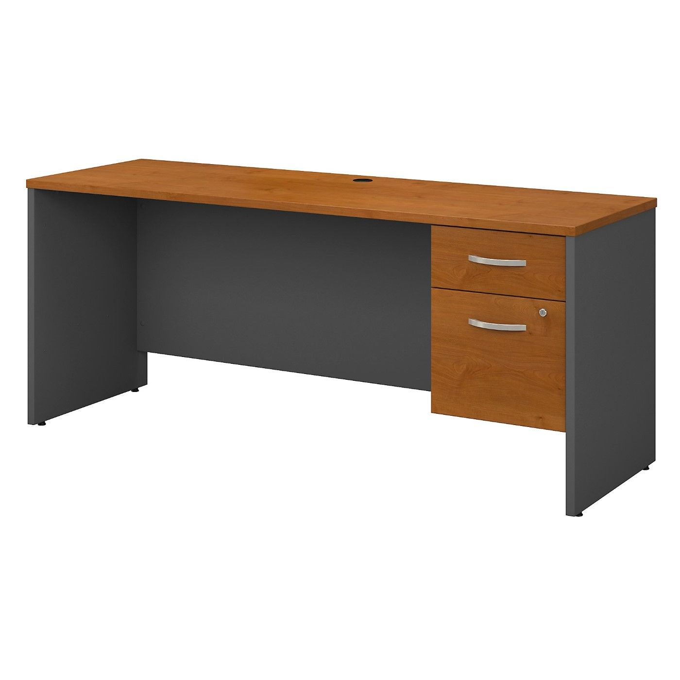 BUSH BUSINESS FURNITURE SERIES C 72W X 24D OFFICE DESK WITH 3/4 PEDESTAL. FREE SHIPPING
