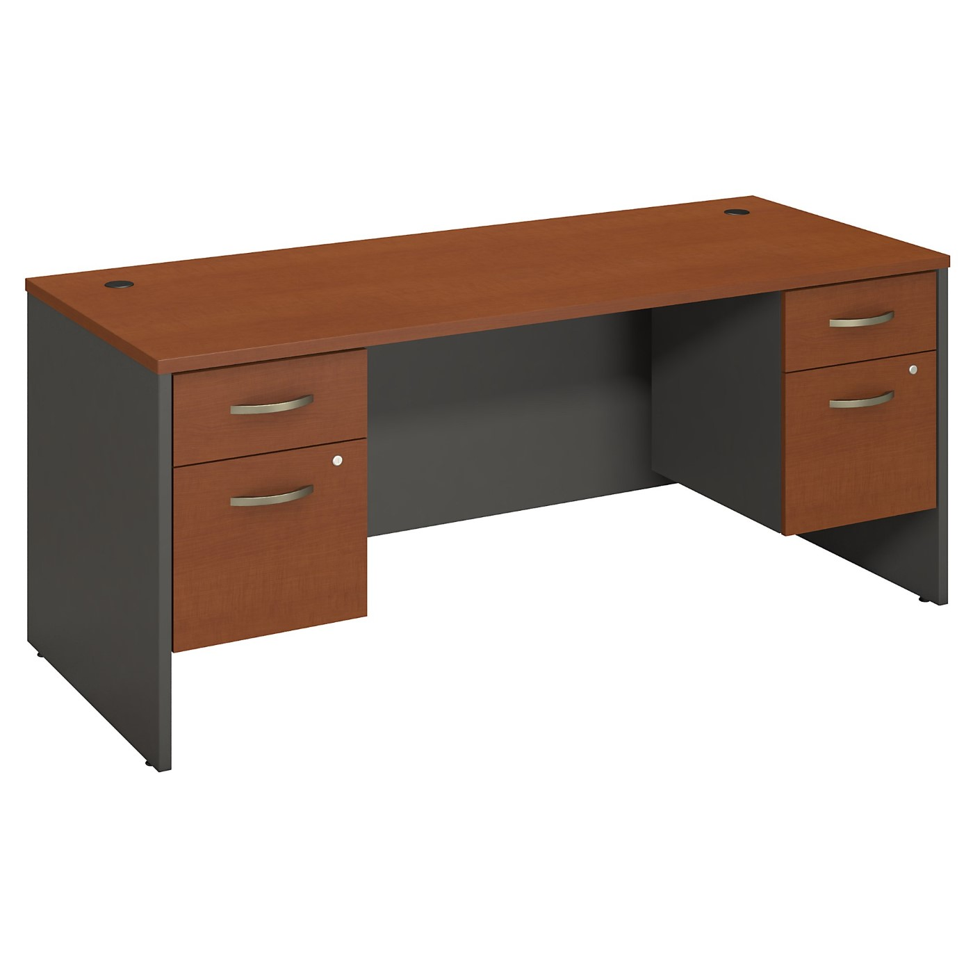 BUSH BUSINESS FURNITURE SERIES C 72W X 30D DESK WITH 2 PEDESTALS. FREE SHIPPING