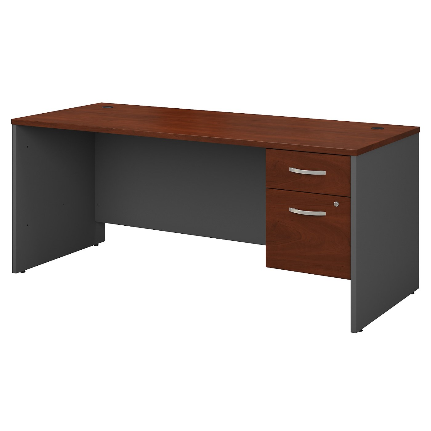 BUSH BUSINESS FURNITURE SERIES C 72W X 30D OFFICE DESK WITH 3/4 PEDESTAL. FREE SHIPPING