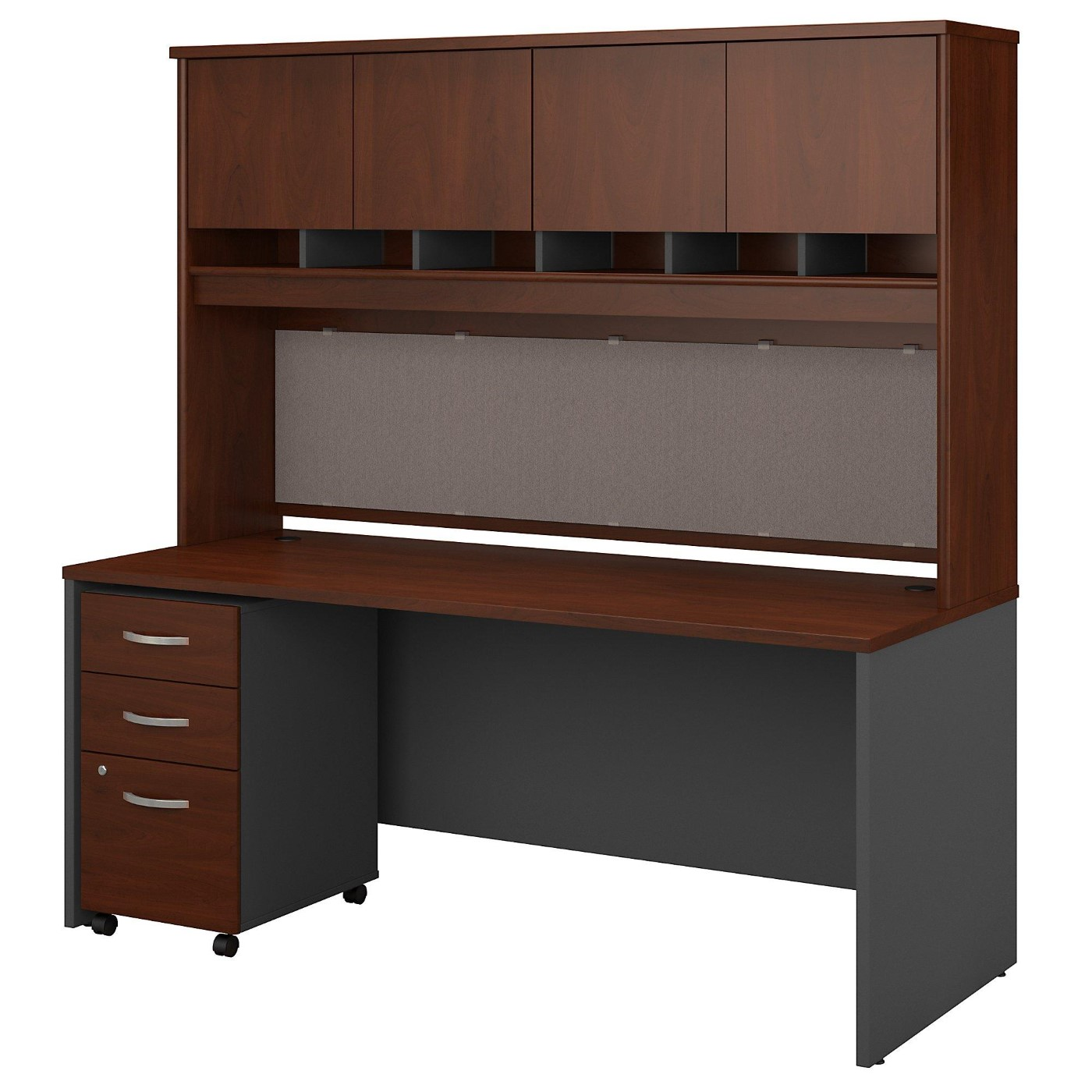 BUSH BUSINESS FURNITURE SERIES C 72W X 30D OFFICE DESK WITH HUTCH AND MOBILE FILE CABINET. FREE SHIPPING</font></b></font>&#x1F384<font color=red><b>ERGONOMICHOME HOLIDAY SALE - ENDS DEC. 17, 2019</b></font>&#x1F384