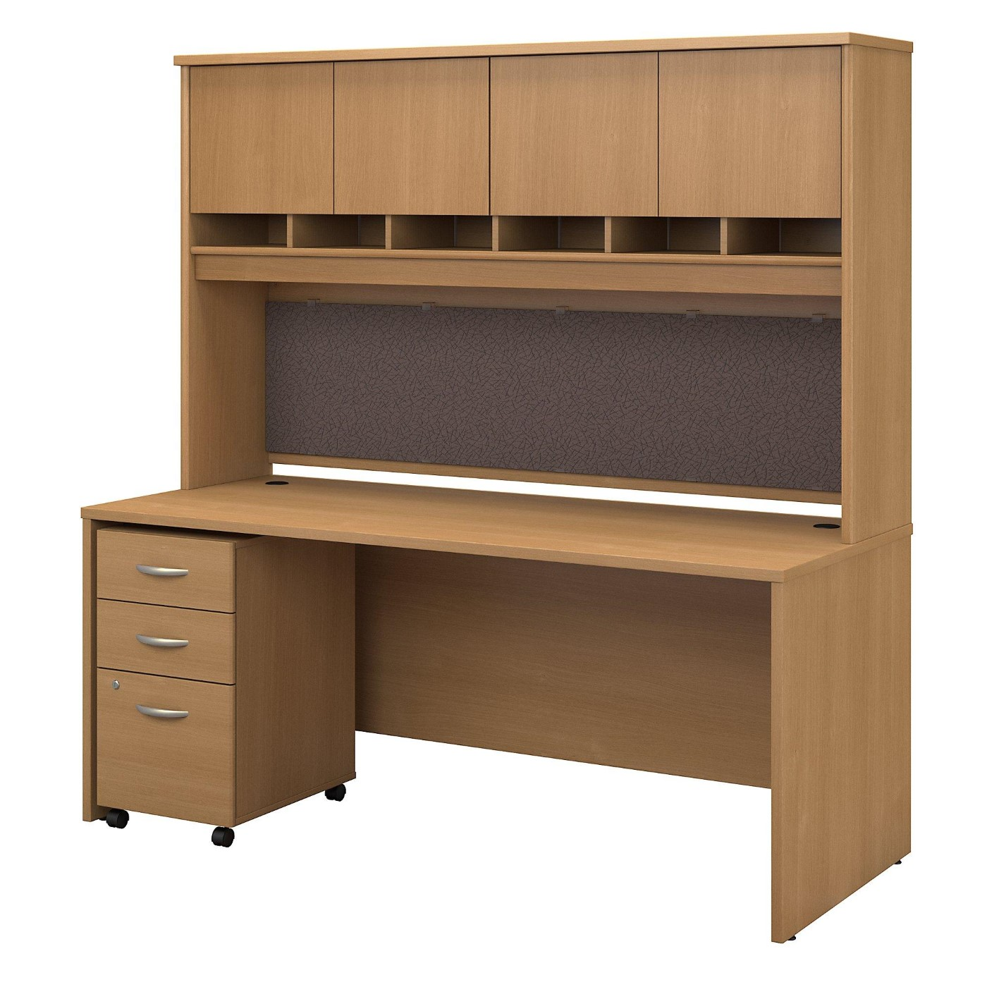 <font color=#c60><b>BUSH BUSINESS FURNITURE SERIES C 72W X 30D OFFICE DESK WITH HUTCH AND MOBILE FILE CABINET. FREE SHIPPING</font></b></font>