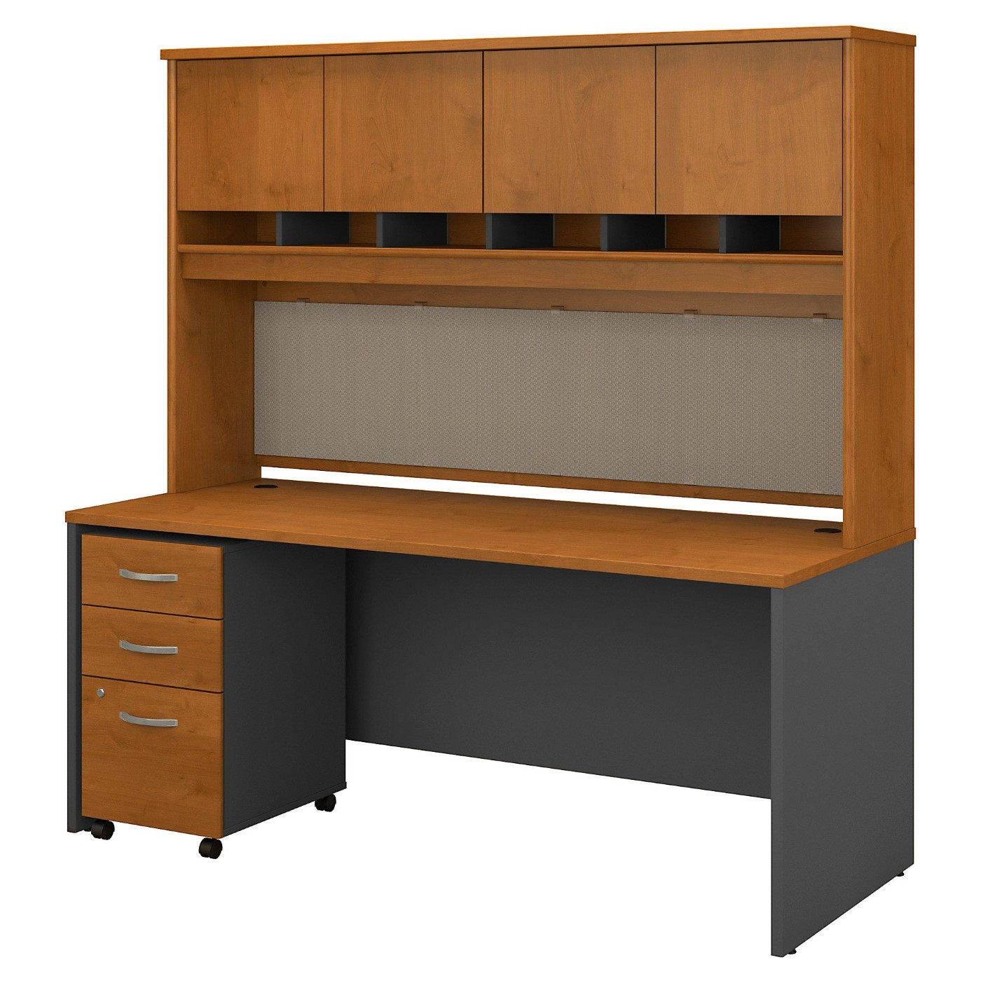 <font color=#c60><b>BUSH BUSINESS FURNITURE SERIES C 72W X 30D OFFICE DESK WITH HUTCH AND MOBILE FILE CABINET. FREE SHIPPING</font></b>