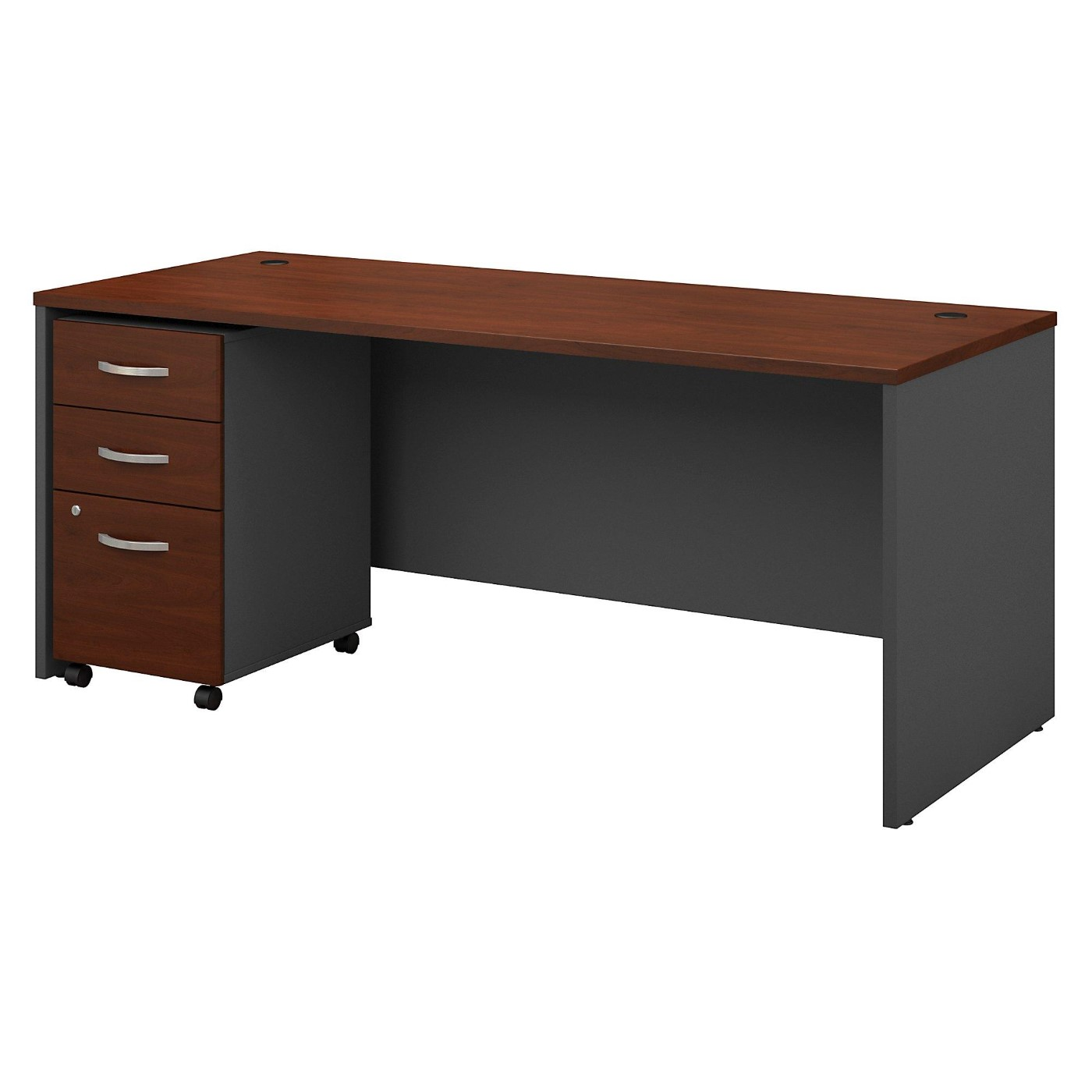 BUSH BUSINESS FURNITURE SERIES C 72W X 30D OFFICE DESK WITH MOBILE FILE CABINET. FREE SHIPPING</font></b></font></b>&#x1F384<font color=red><b>ERGONOMICHOME HOLIDAY SALE - ENDS DEC. 17, 2019</b></font>&#x1F384