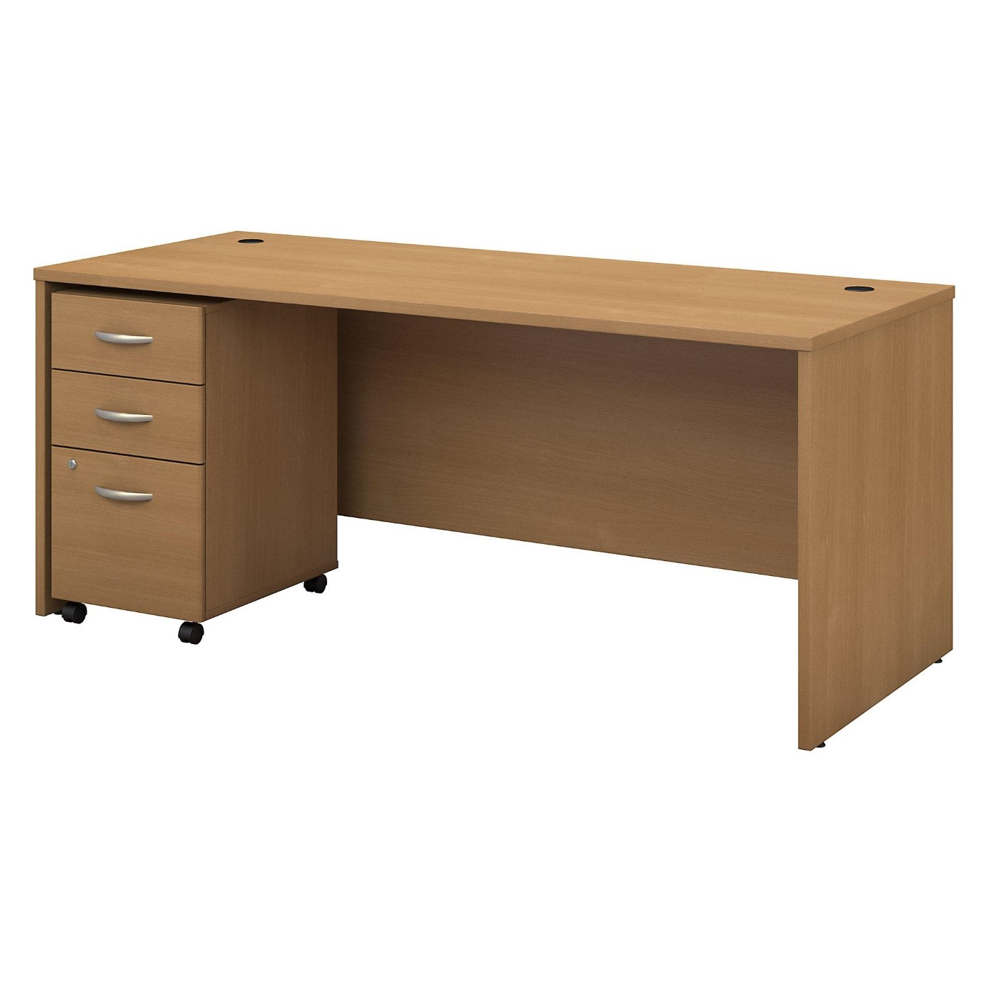 BUSH BUSINESS FURNITURE SERIES C 72W X 30D OFFICE DESK WITH MOBILE FILE CABINET. FREE SHIPPING  VIDEO BELOW.