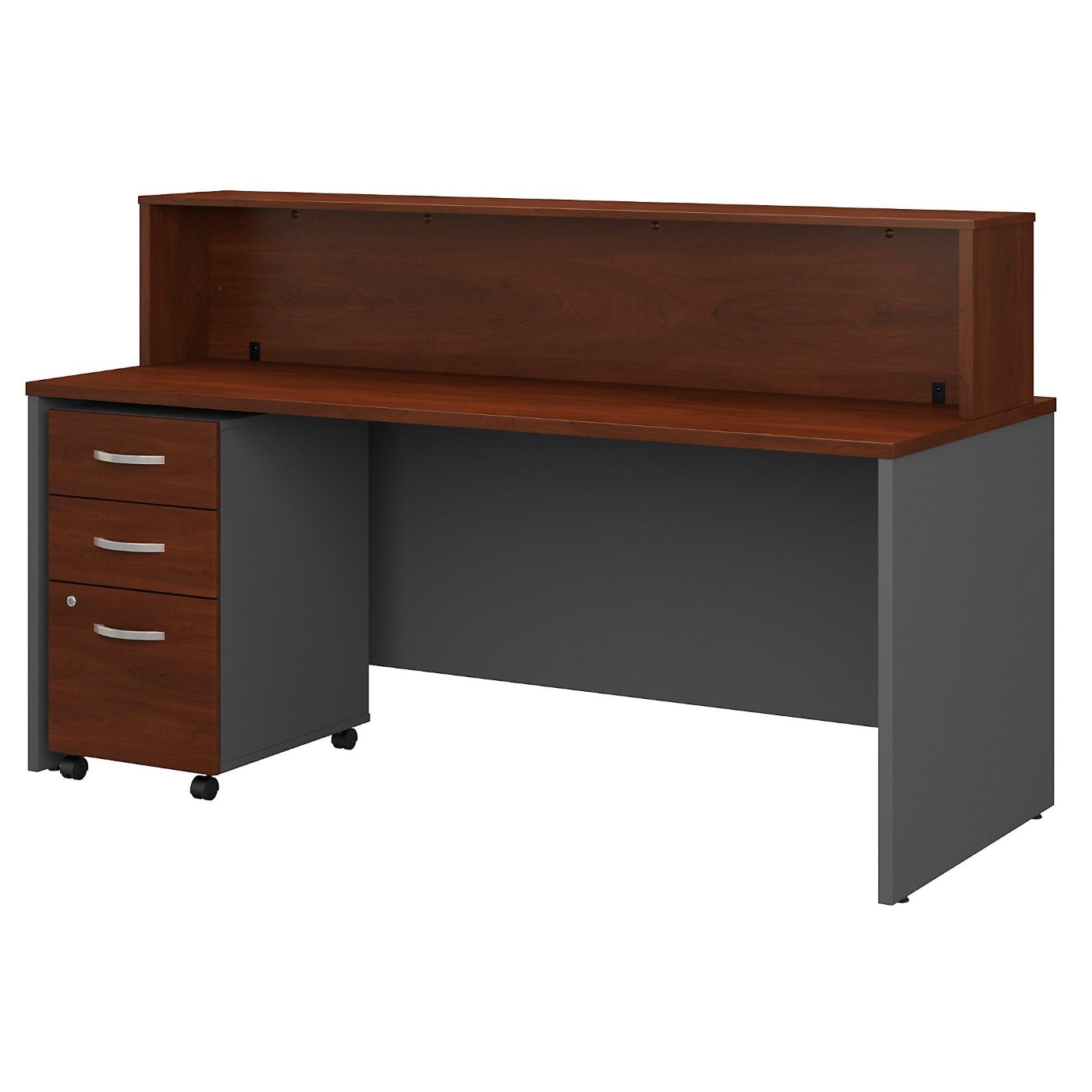 BUSH BUSINESS FURNITURE SERIES C 72W X 30D RECEPTION DESK WITH MOBILE FILE CABINET. FREE SHIPPING</font></b></font>&#x1F384<font color=red><b>ERGONOMICHOME HOLIDAY SALE - ENDS DEC. 17, 2019</b></font>&#x1F384