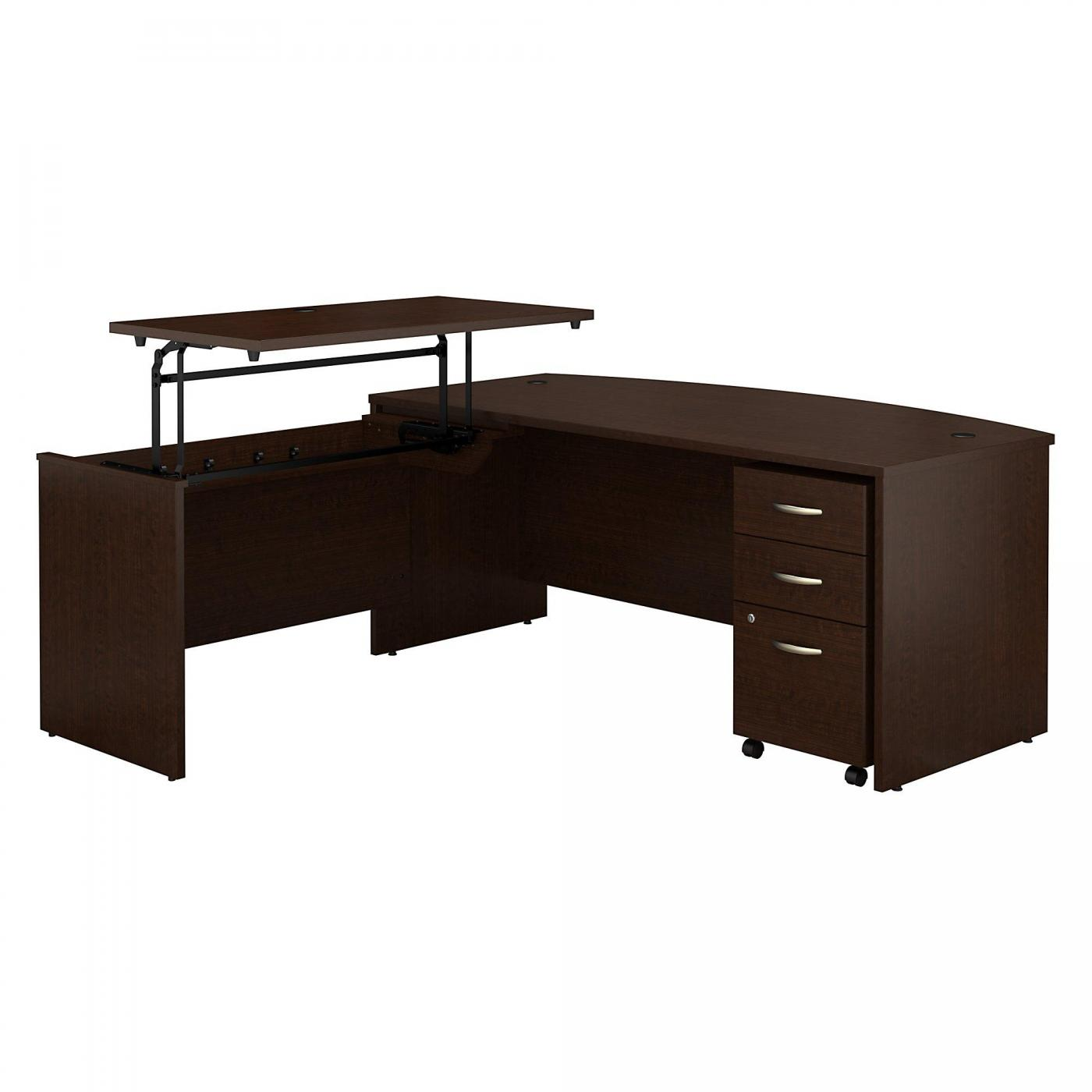 </b></font><b>BUSH BUSINESS FURNITURE SERIES C 72W X 36D 3 POSITION BOW FRONT SIT TO STAND L SHAPED DESK WITH MOBILE FILE CABINET. FREE SHIPPING</b></font>  VIDEO BELOW. <p>RATING:&#11088;&#11088;&#11088;&#11088;&#11088;</b></font></b>