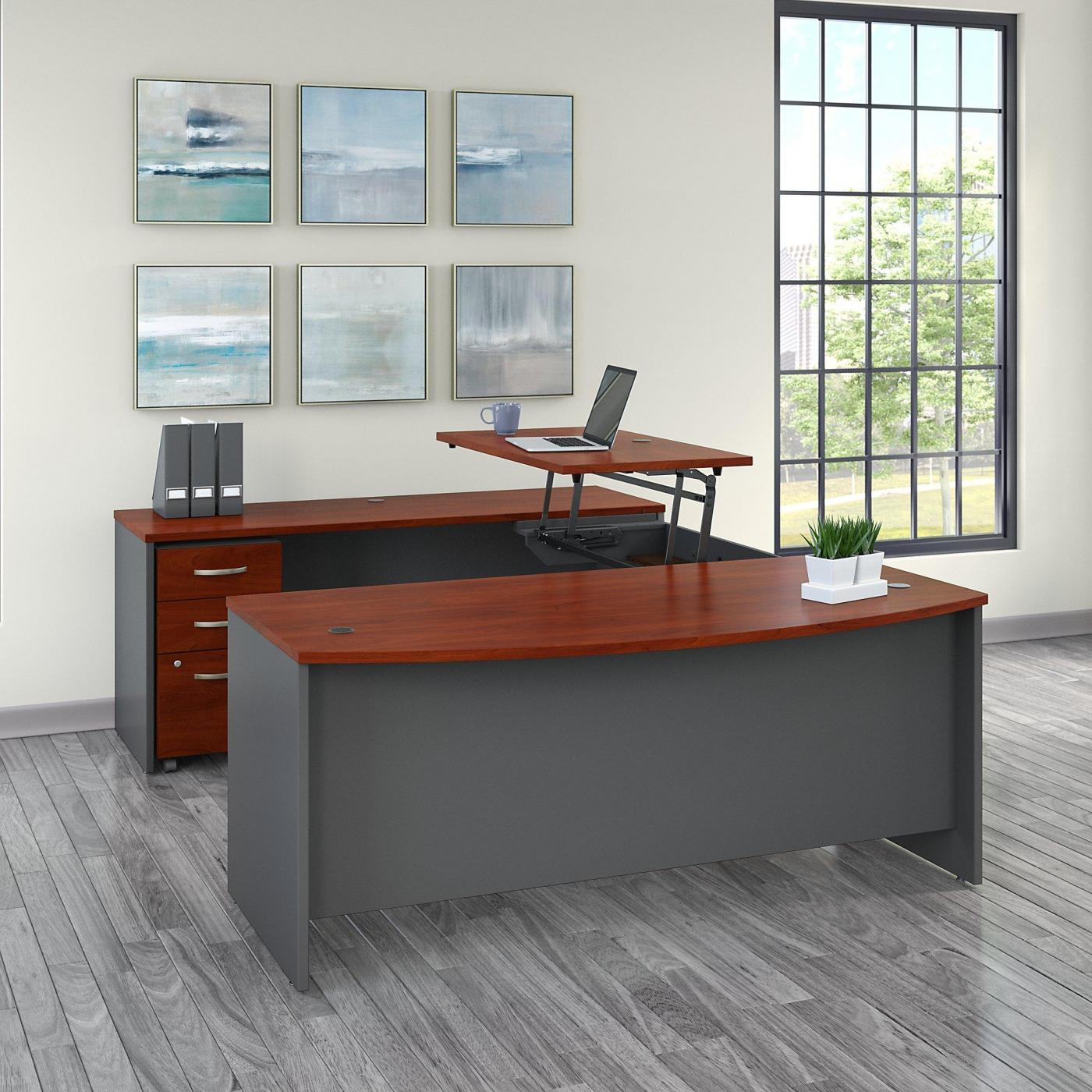 Bbf Series C Sit To Stand Bow Front U Shaped Desk Bbf