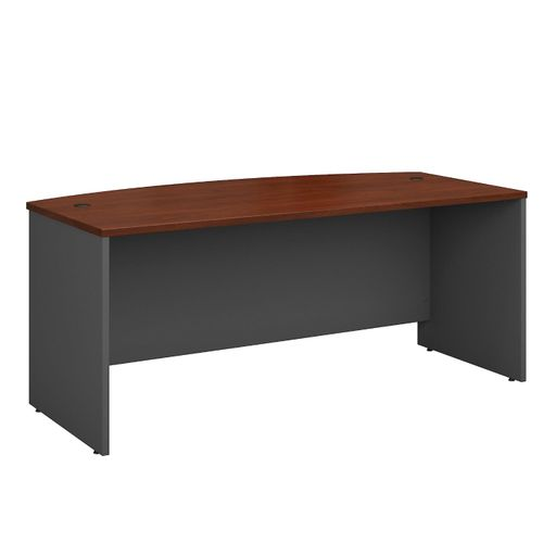 BUSH BUSINESS FURNITURE SERIES C 72W X 36D BOW FRONT DESK. FREE SHIPPING.  SALE DEDUCT 10% MORE ENTER '10percent' IN COUPON CODE BOX WHILE CHECKING OUT.