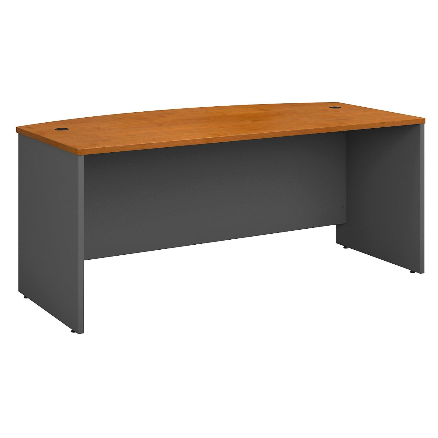 <font color=#c60><b>BUSH BUSINESS FURNITURE SERIES C 72W X 36D BOW FRONT DESK. FREE SHIPPING</font></b>