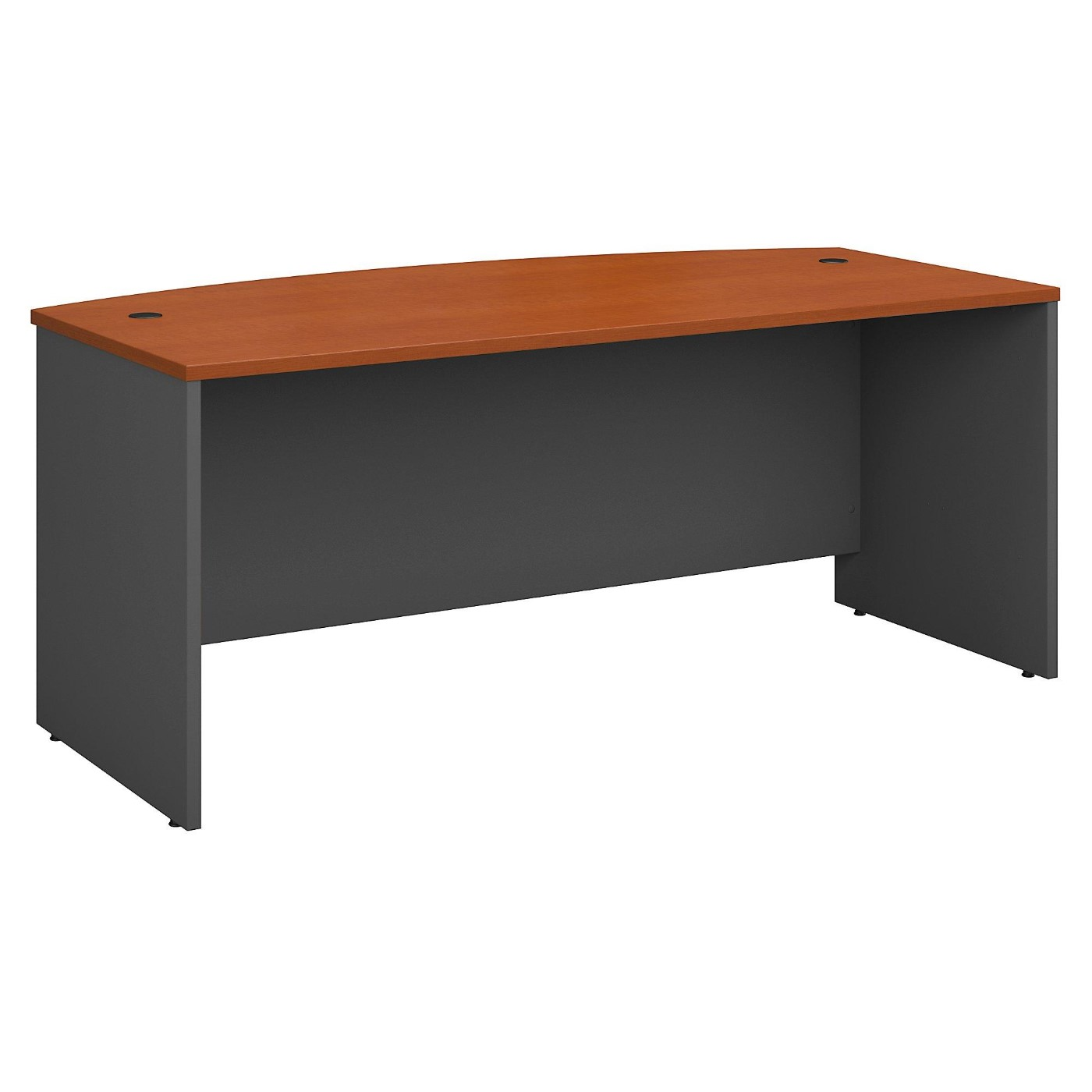 BUSH BUSINESS FURNITURE SERIES C 72W X 36D BOW FRONT DESK. FREE SHIPPING.