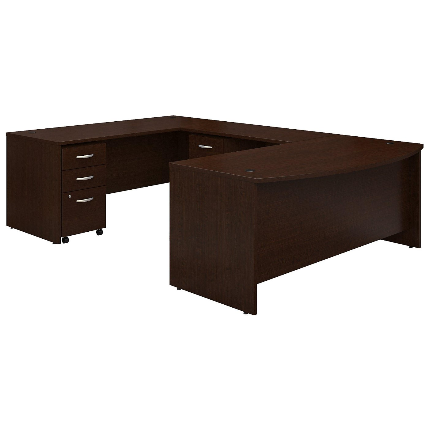 BUSH BUSINESS FURNITURE SERIES C 72W X 36D BOW FRONT U SHAPED DESK WITH MOBILE FILE CABINETS. FREE SHIPPING</font></b></font>&#x1F384<font color=red><b>ERGONOMICHOME HOLIDAY SALE - ENDS DEC. 17, 2019</b></font>&#x1F384