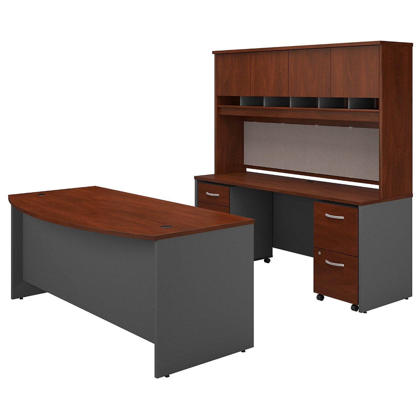 BUSH BUSINESS FURNITURE SERIES C BOW FRONT DESK WITH CREDENZA, HUTCH AND STORAGE. FREE SHIPPING</font></b></font>&#x1F384<font color=red><b>ERGONOMICHOME HOLIDAY SALE - ENDS DEC. 17, 2019</b></font>&#x1F384