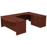 FREE SHIPPING BUSH BUSINESS FURNITURE SERIES C BOW FRONT RIGHT HANDED U SHAPED DESK WITH 2 DRAWER LATERAL FILE CABINET. SALE ENDS 8-6-21