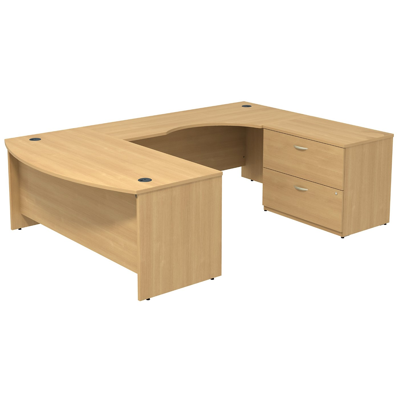 BUSH BUSINESS FURNITURE SERIES C BOW FRONT RIGHT HANDED U SHAPED DESK WITH 2 DRAWER LATERAL FILE CABINET. FREE SHIPPING SALE DEDUCT 10% MORE ENTER '10percent' IN COUPON CODE BOX WHILE CHECKING OUT.