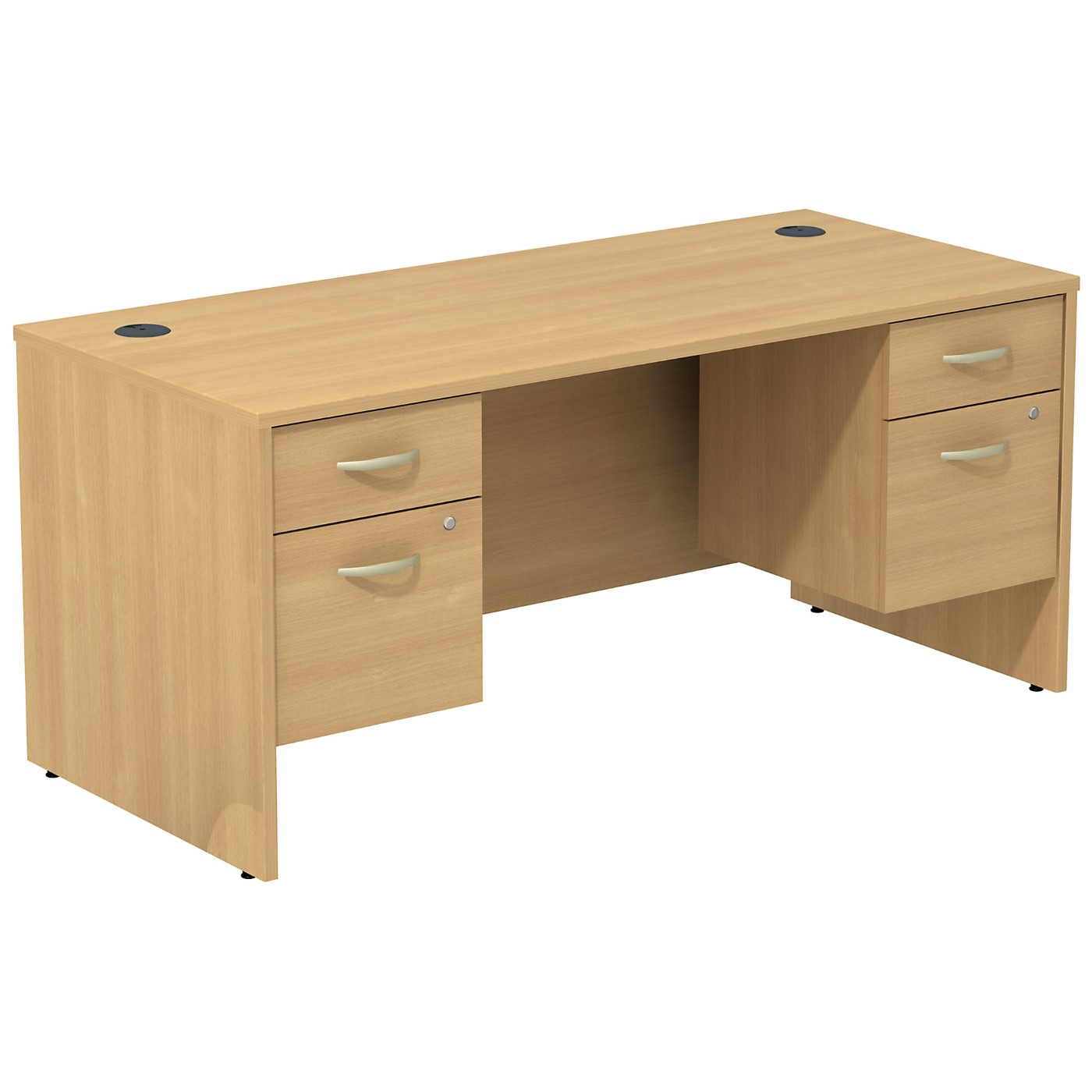 BUSH BUSINESS FURNITURE SERIES C DESK WITH (2) 3/4 PEDESTALS. FREE SHIPPING