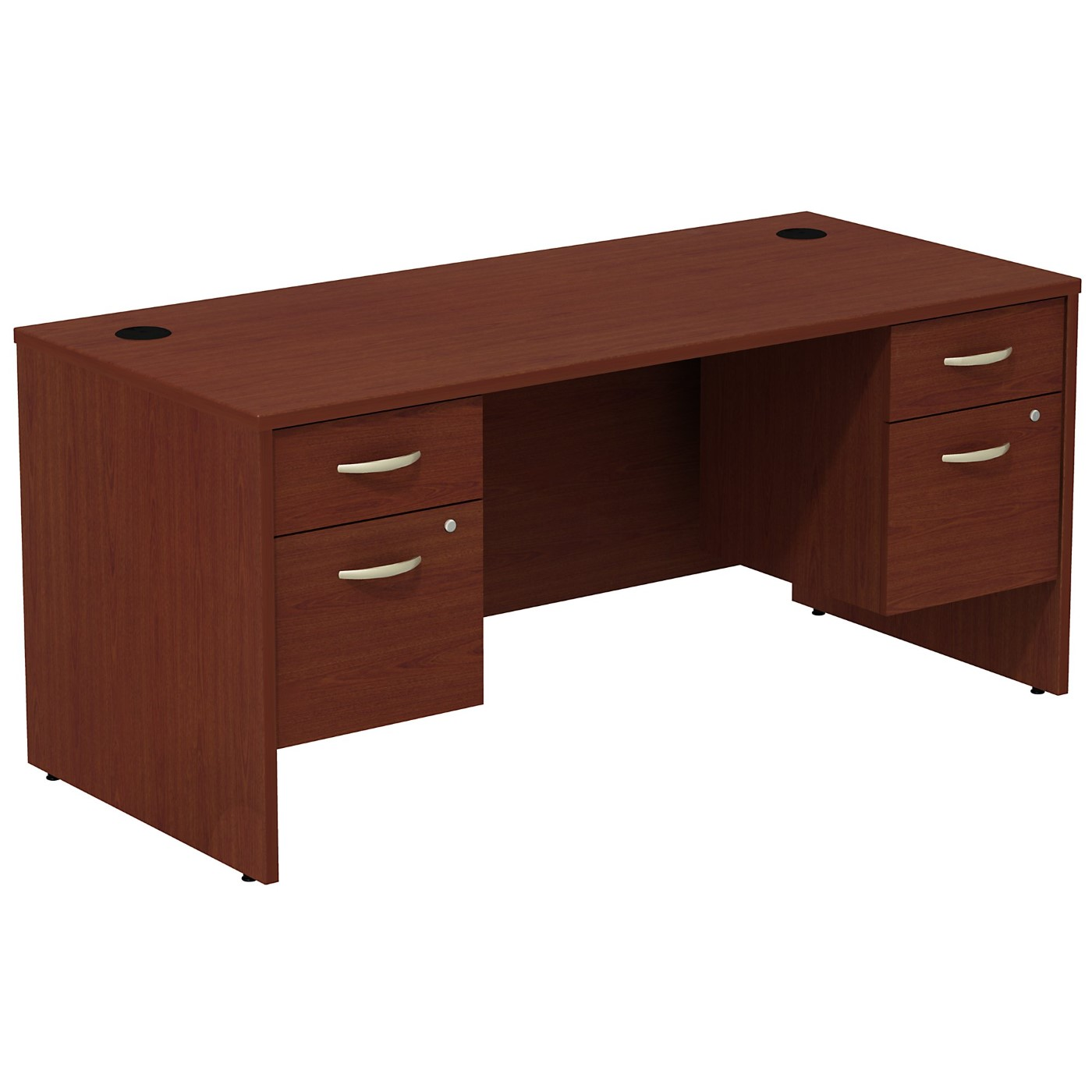 BUSH BUSINESS FURNITURE SERIES C DESK WITH (2) 3/4 PEDESTALS. FREE SHIPPING SALE DEDUCT 10% MORE ENTER '10percent' IN COUPON CODE BOX WHILE CHECKING OUT.